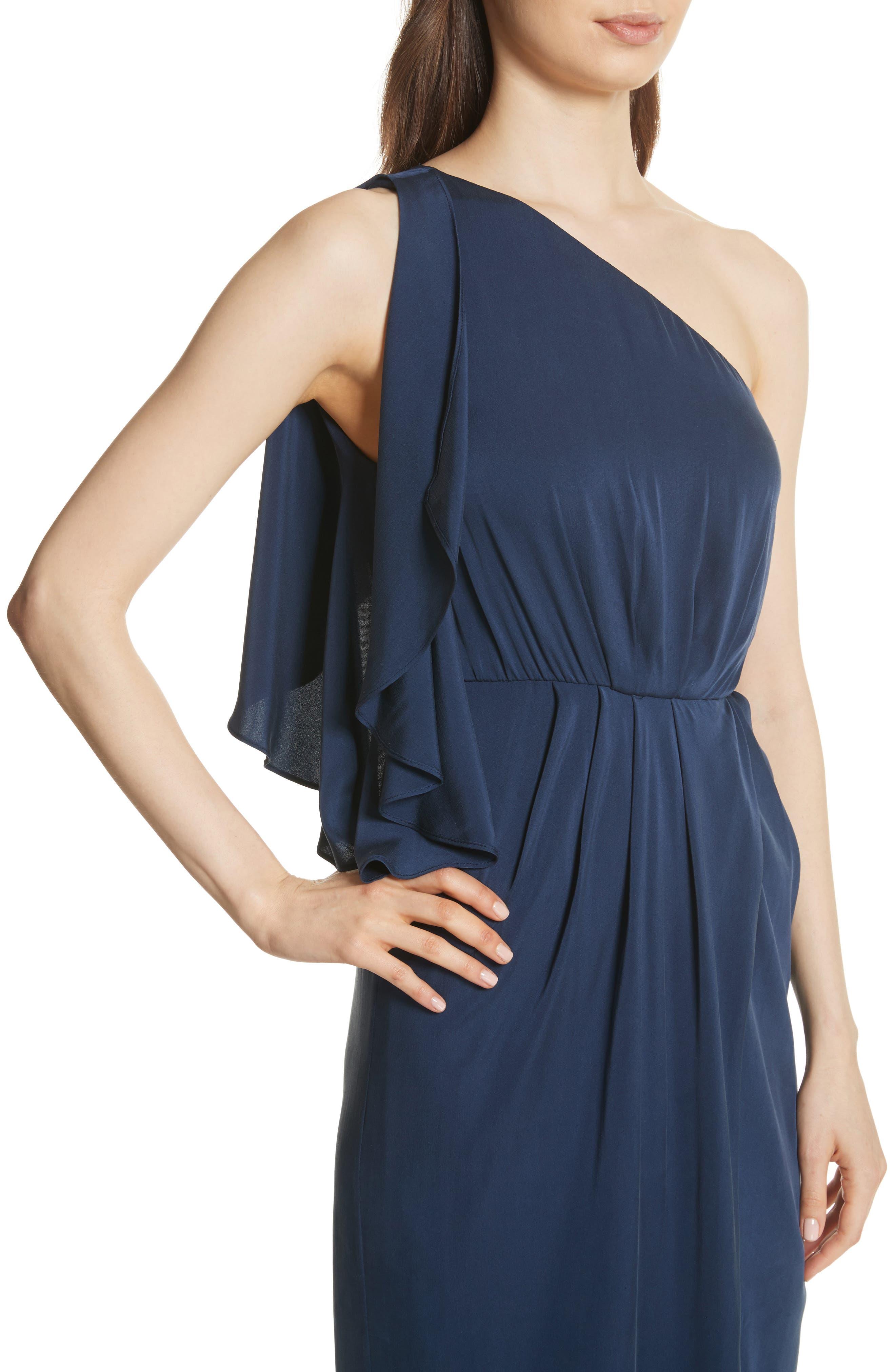Oleta Side Drape Goddess Dress,                             Alternate thumbnail 4, color,                             460