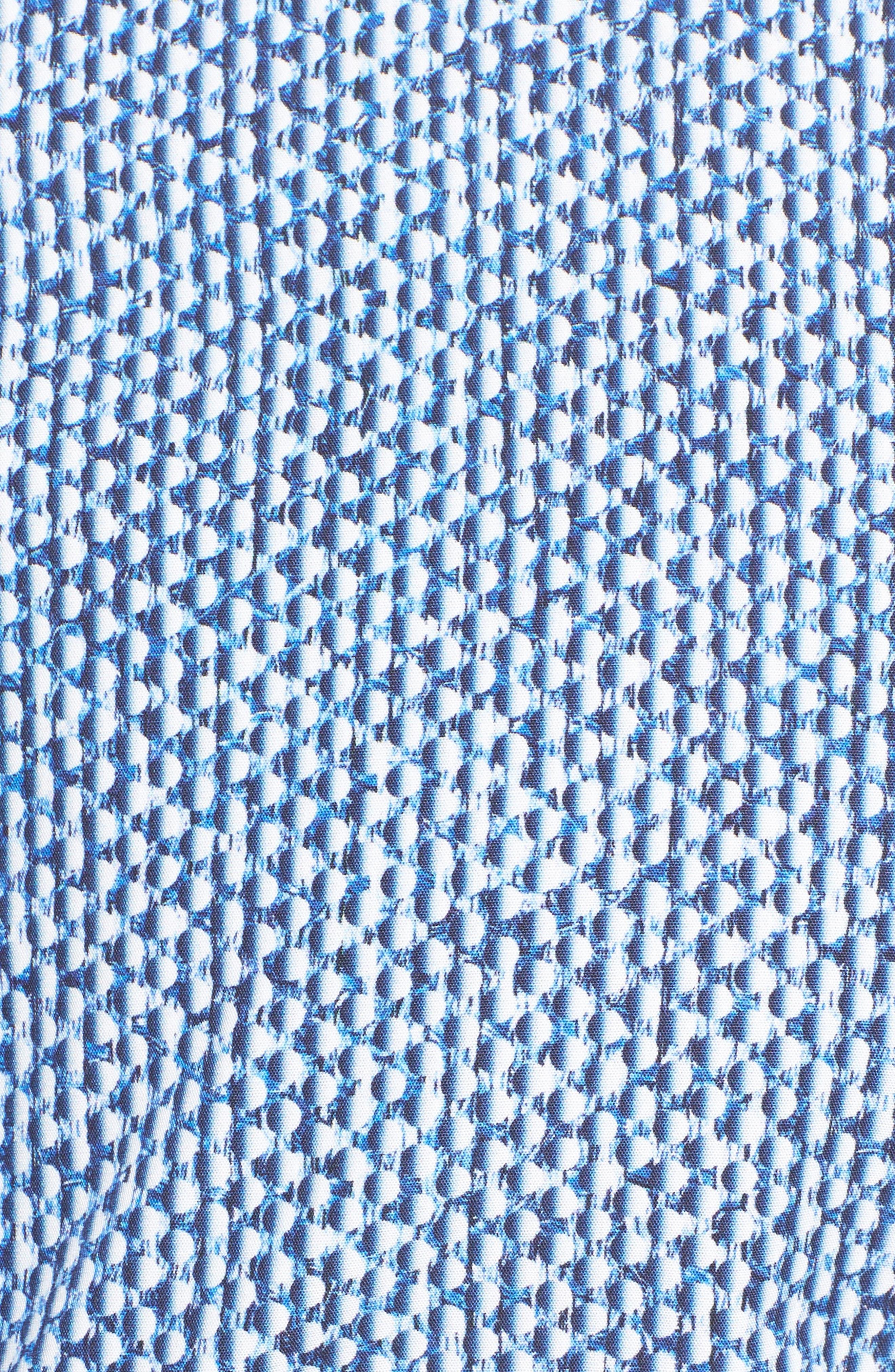 Shaped Fit Print Sport Shirt,                             Alternate thumbnail 5, color,                             411