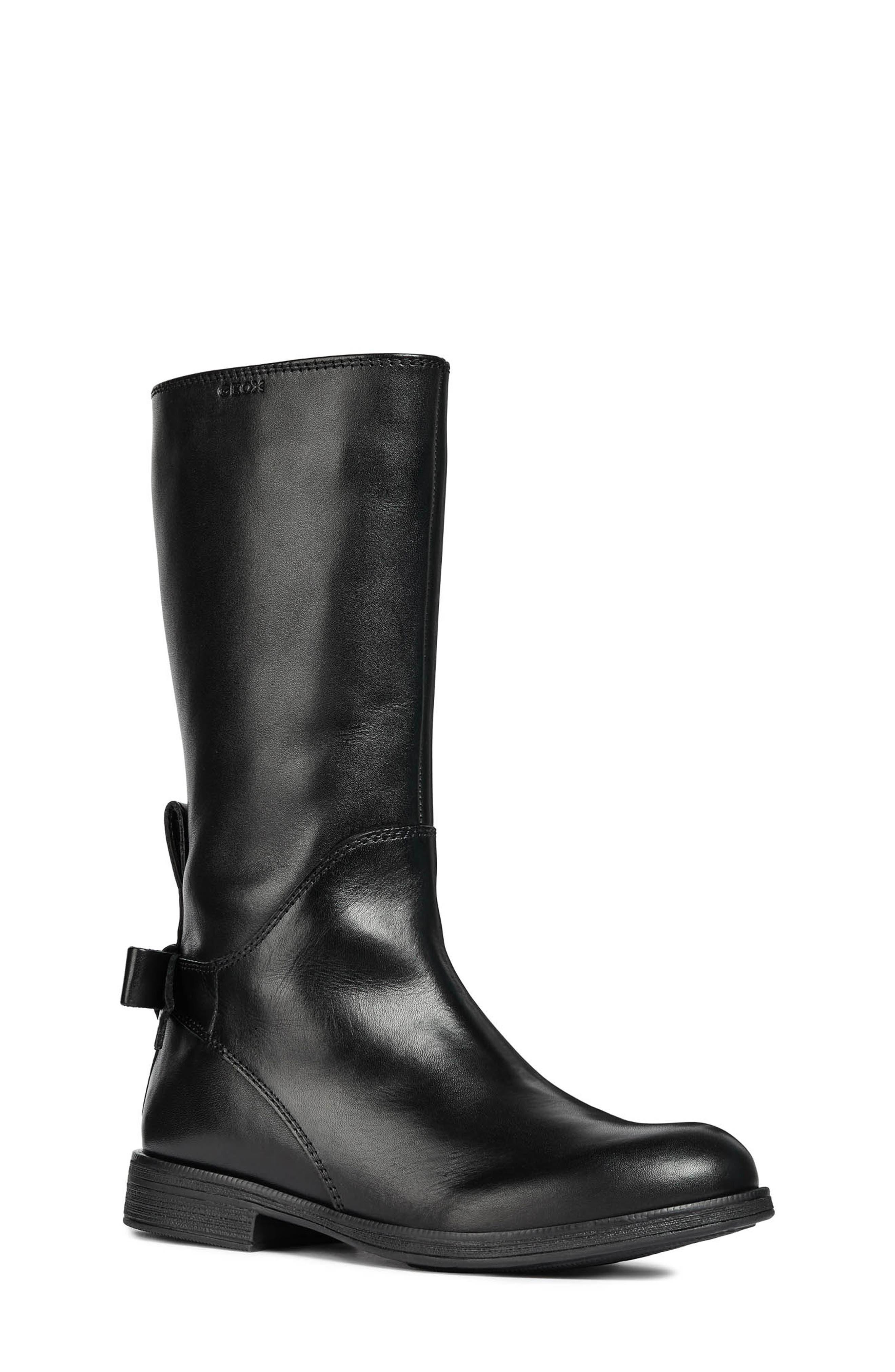 Jr Agata Boot,                             Main thumbnail 1, color,                             BLACK