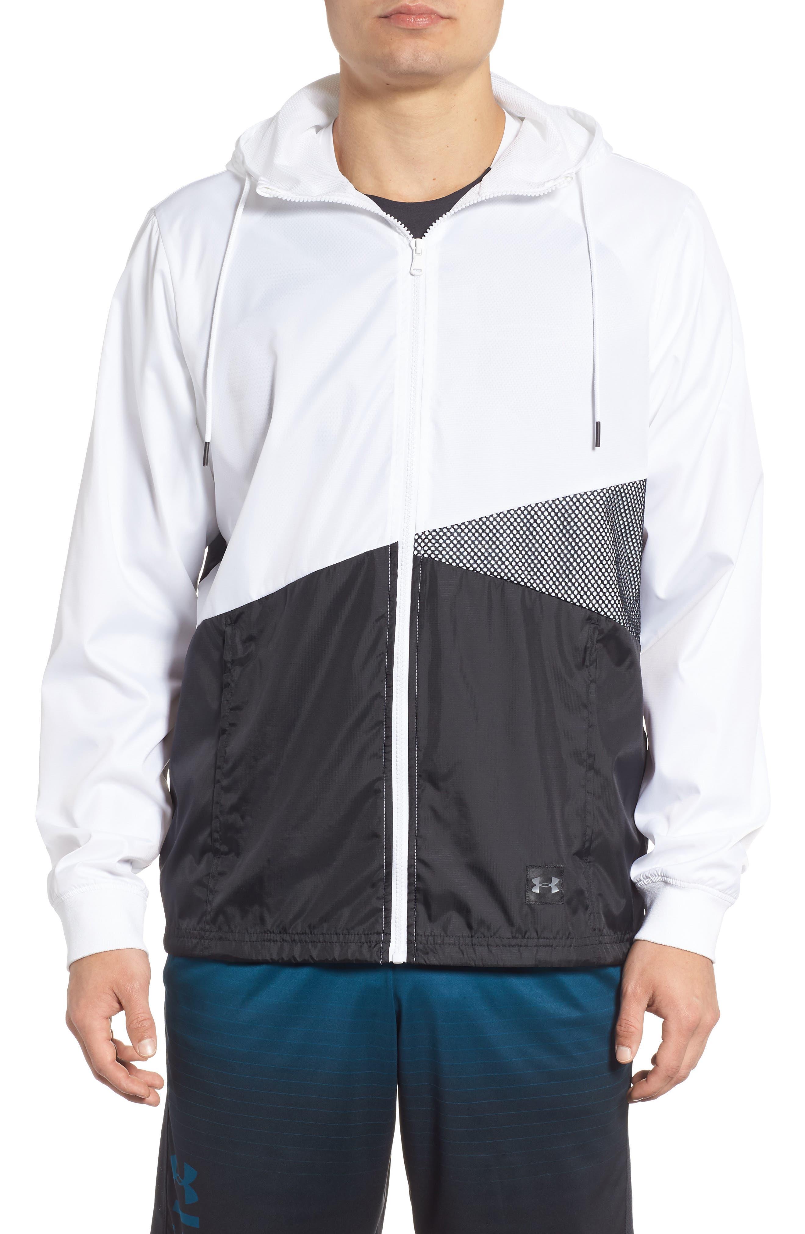 Sportstyle Regular Full Zip Jacket,                             Main thumbnail 1, color,                             WHITE
