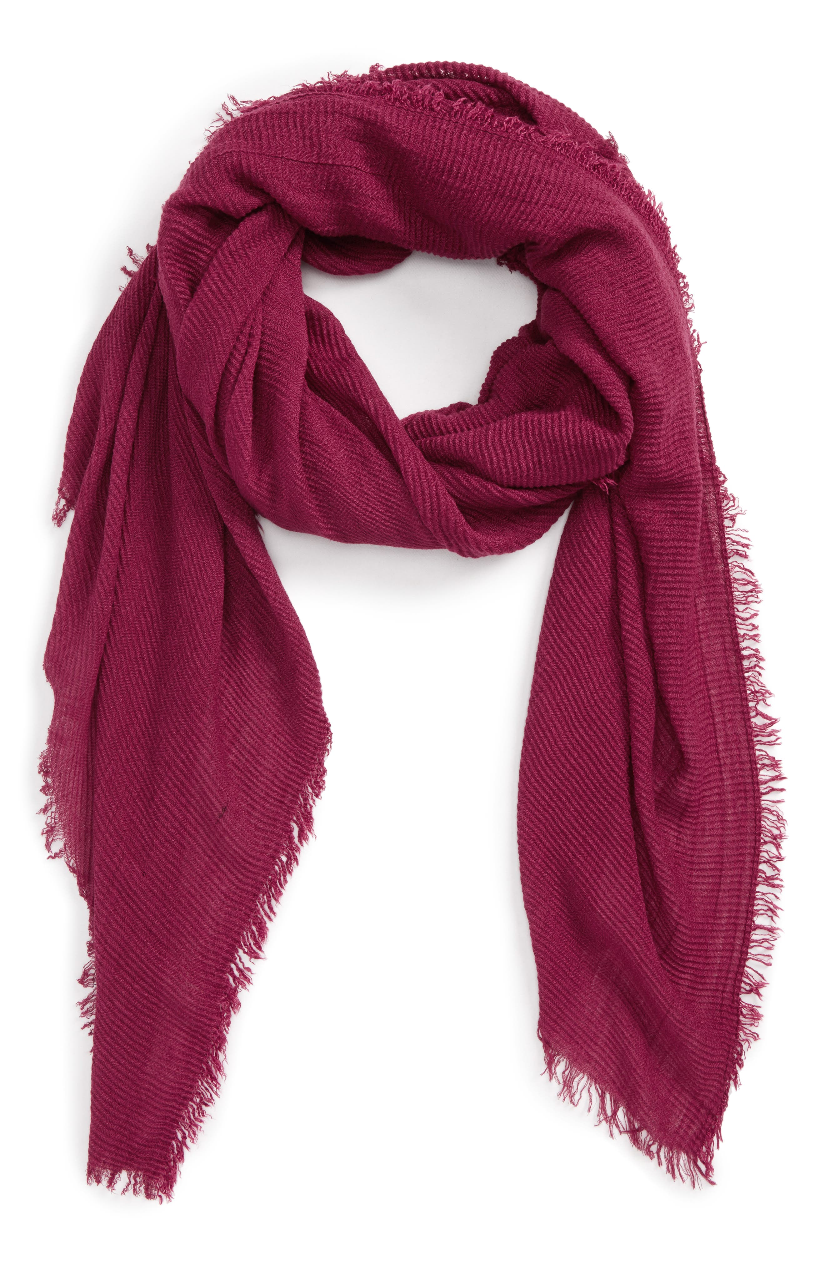 Pleated Fringe Scarf,                             Main thumbnail 8, color,