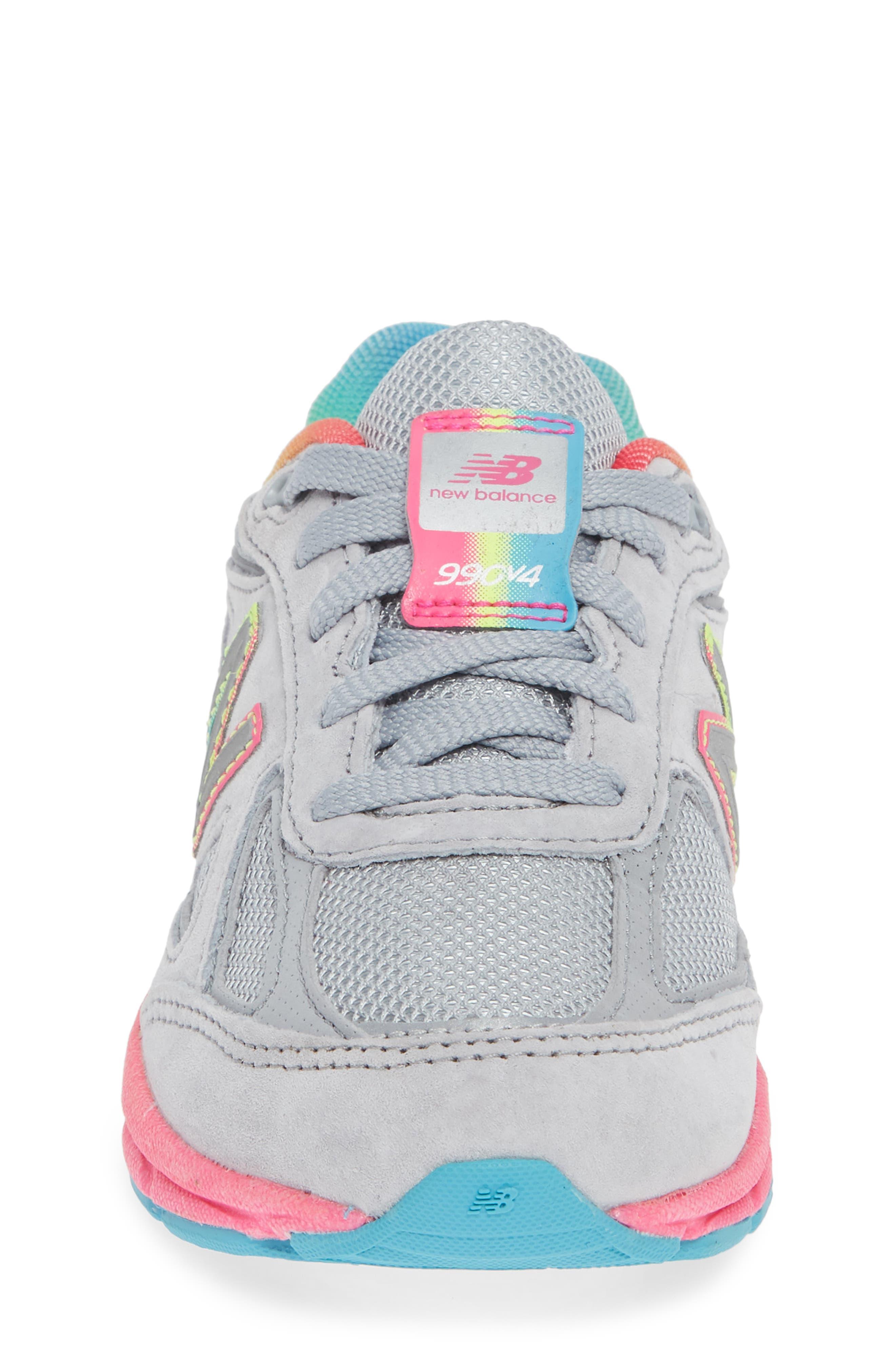 990v4 Sneaker,                             Alternate thumbnail 4, color,                             ATHLETIC GREY/ MULTI