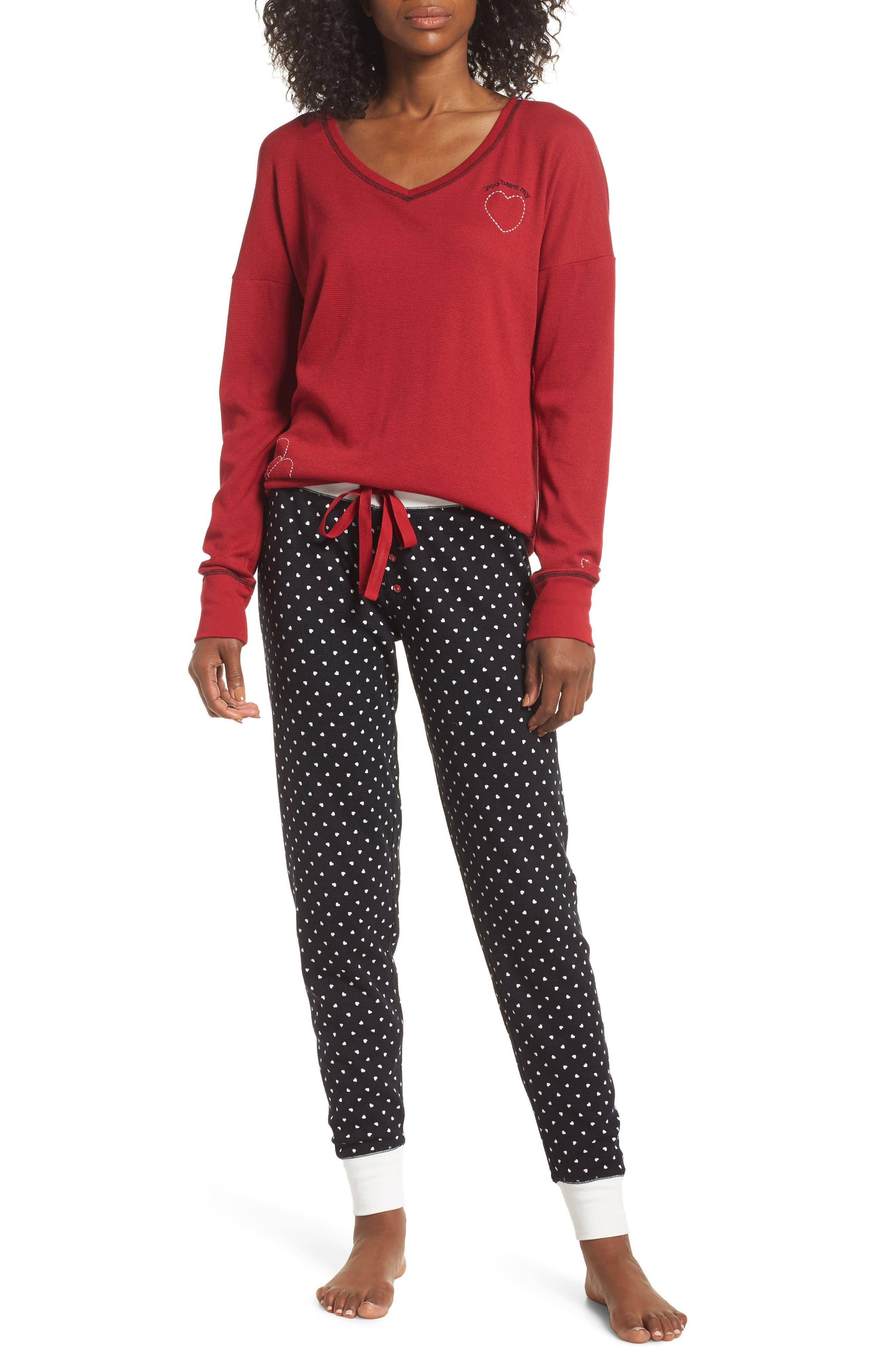 Thermal Pajamas,                             Main thumbnail 1, color,                             001