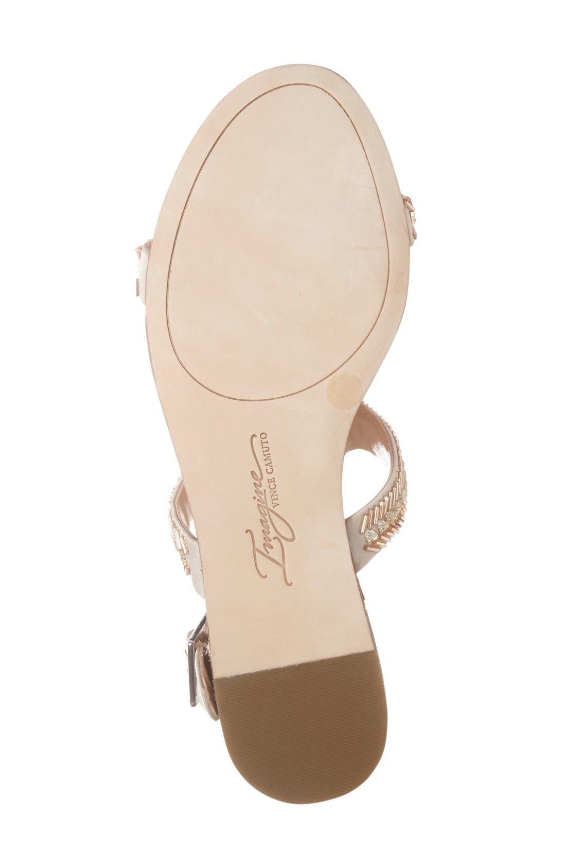 Imagine Vince Camuto 'Reid' Embellished T-Strap Flat Sandal,                             Alternate thumbnail 8, color,