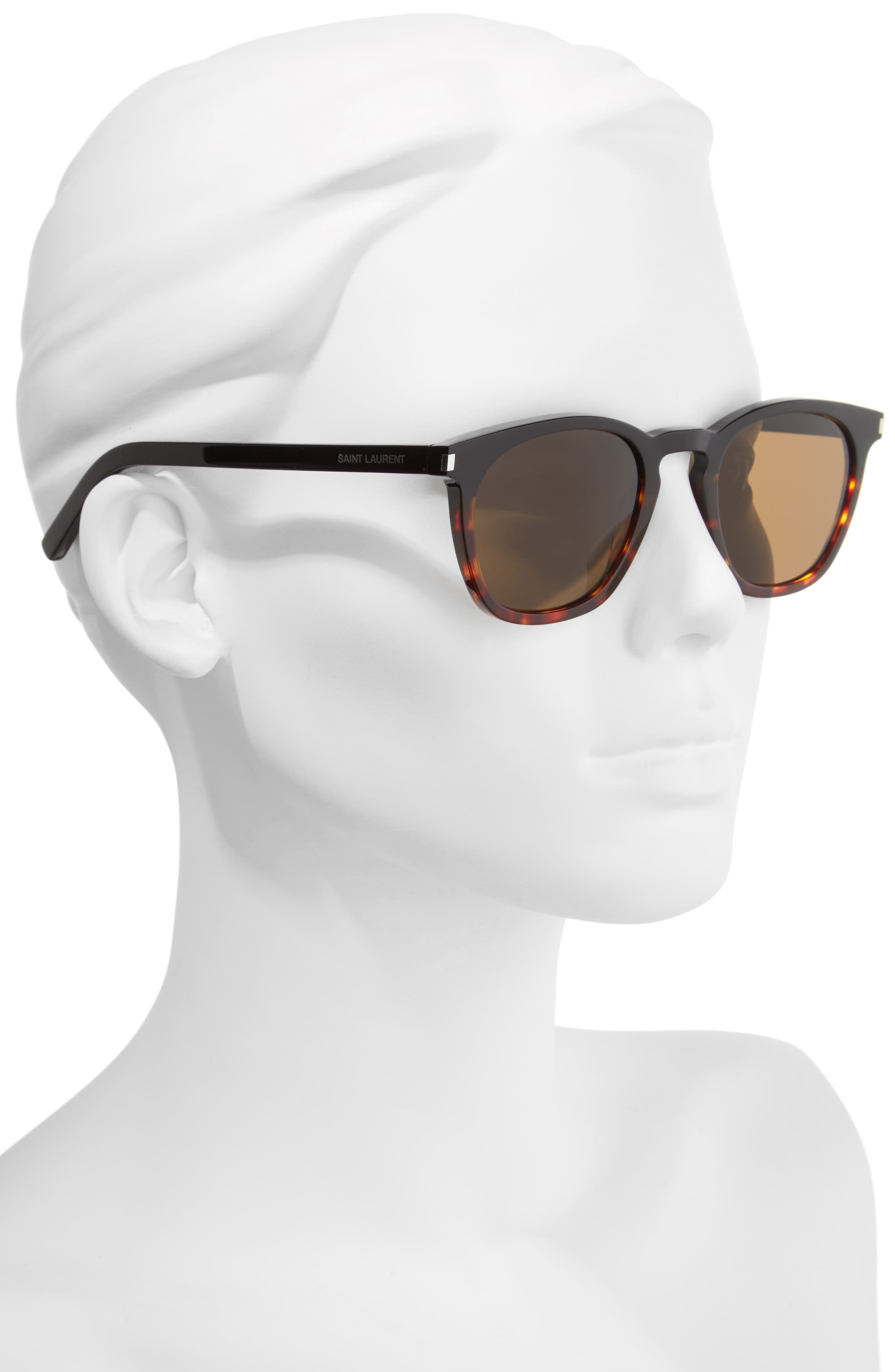 SL 28 51mm Keyhole Sunglasses,                             Alternate thumbnail 2, color,                             001