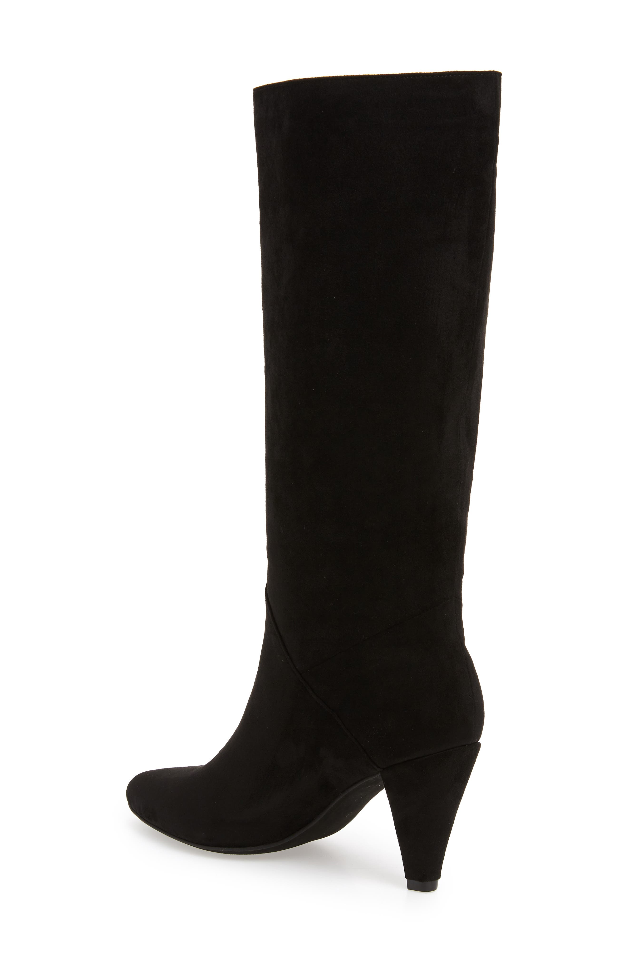Jeffery Campbell Candle Knee High Boot,                             Alternate thumbnail 2, color,                             BLACK FAUX SUEDE