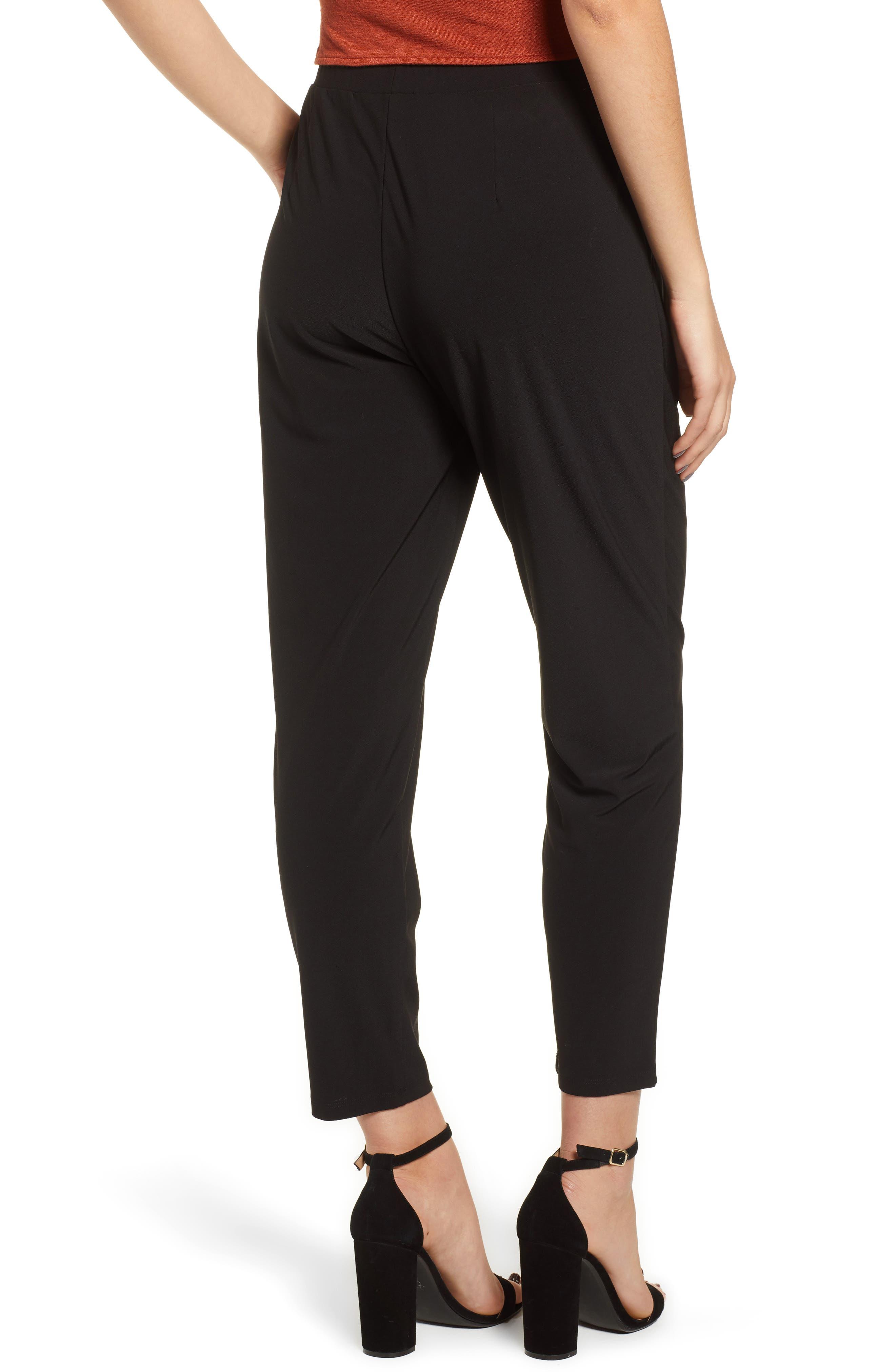 Pleat Front Trousers,                             Alternate thumbnail 2, color,                             BLACK