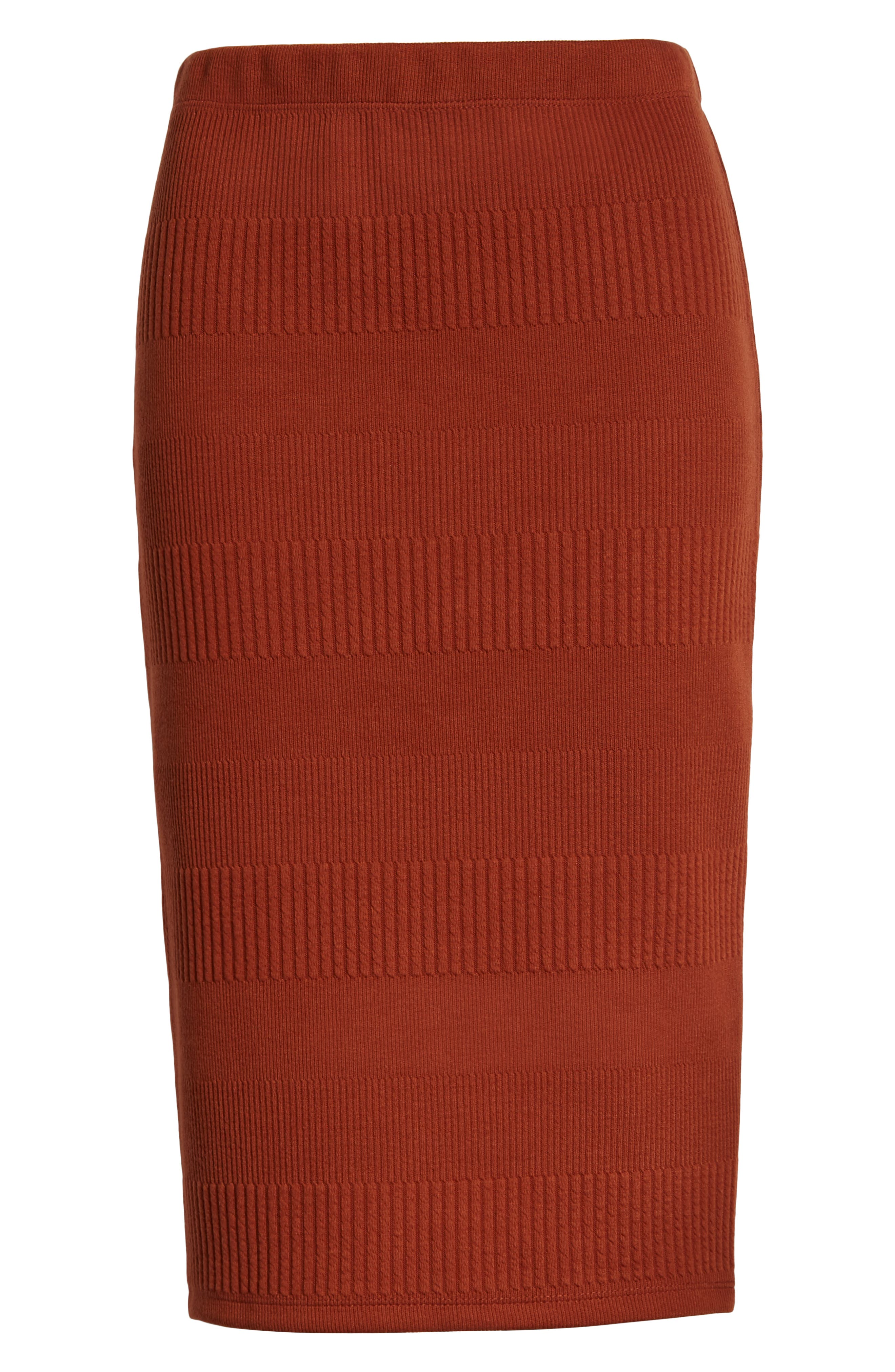 Midi Pencil Skirt,                             Alternate thumbnail 6, color,                             BROWN SPICE