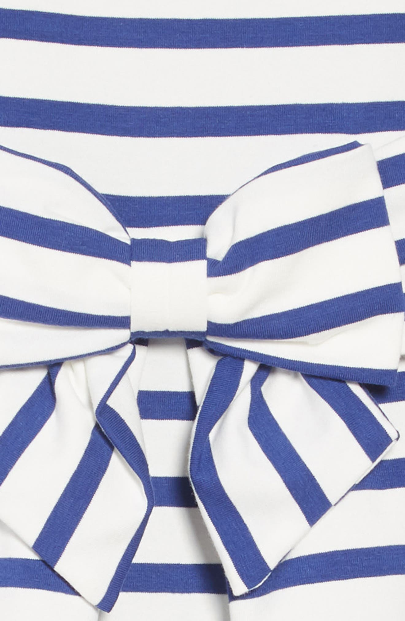 jillian stripe dress,                             Alternate thumbnail 3, color,                             400