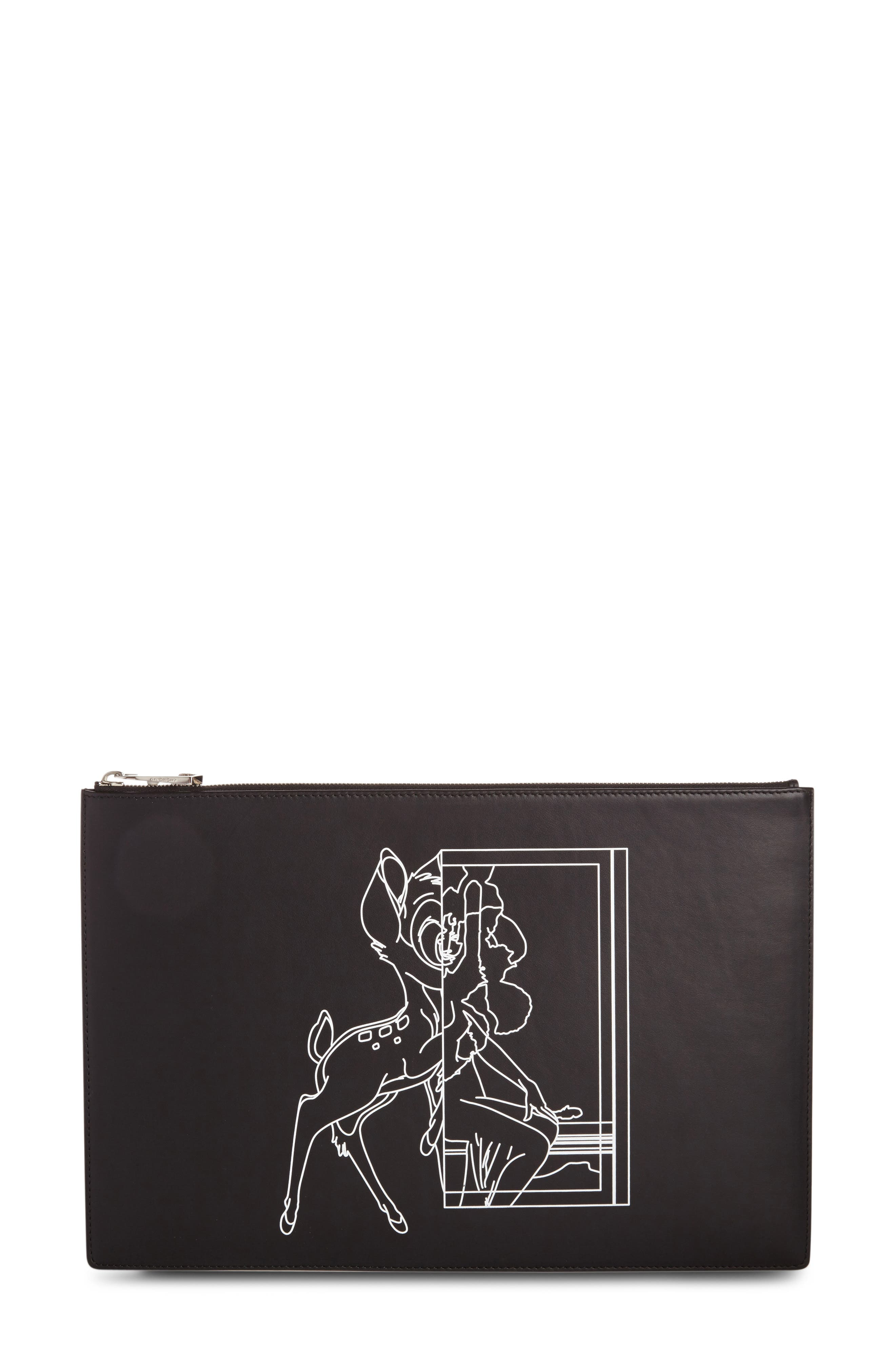 Bambi<sup>™</sup> Print Leather Pouch,                             Alternate thumbnail 2, color,