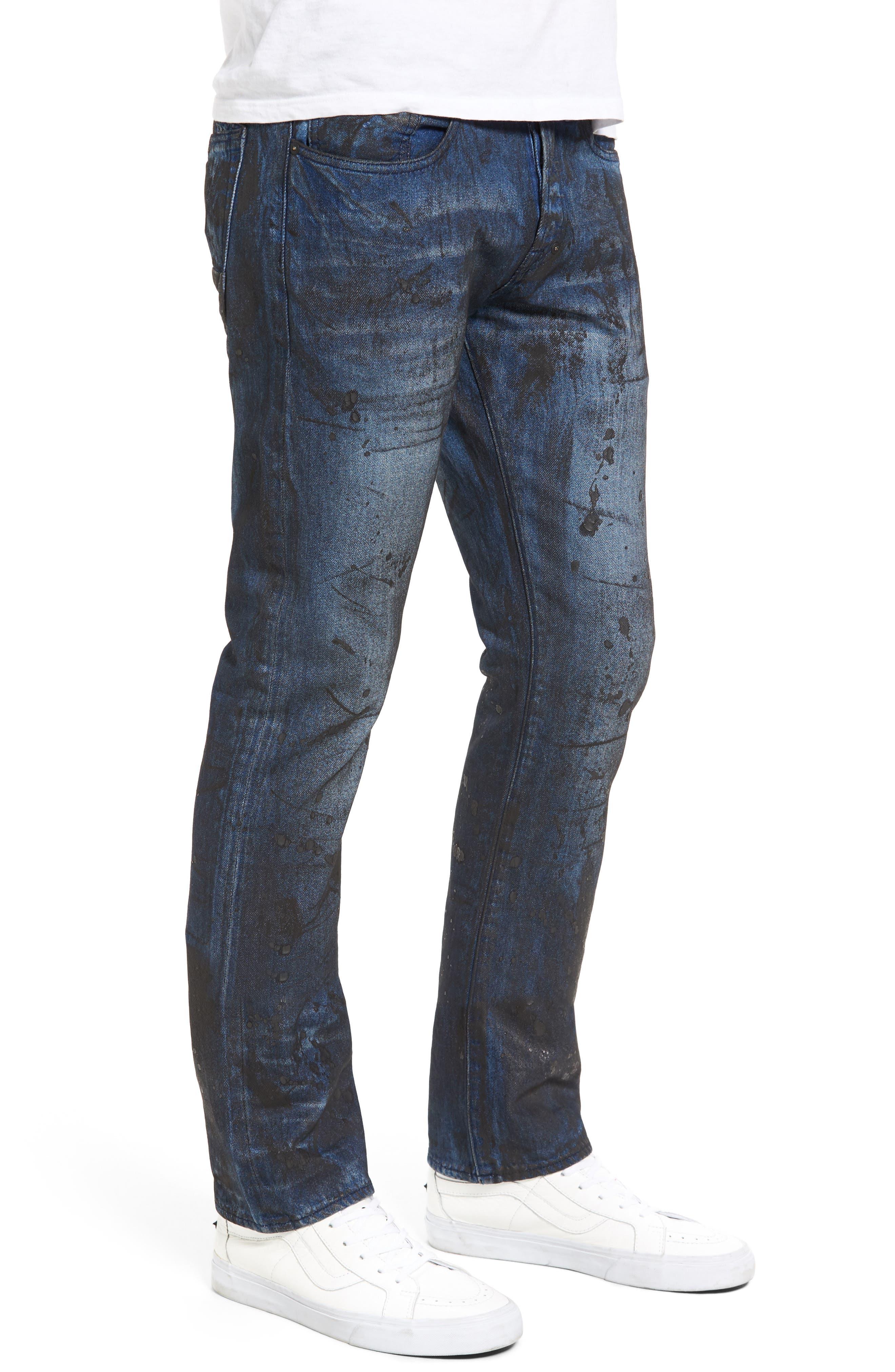 PRPS,                             Demon Slim Straight Leg Jeans,                             Alternate thumbnail 3, color,                             400