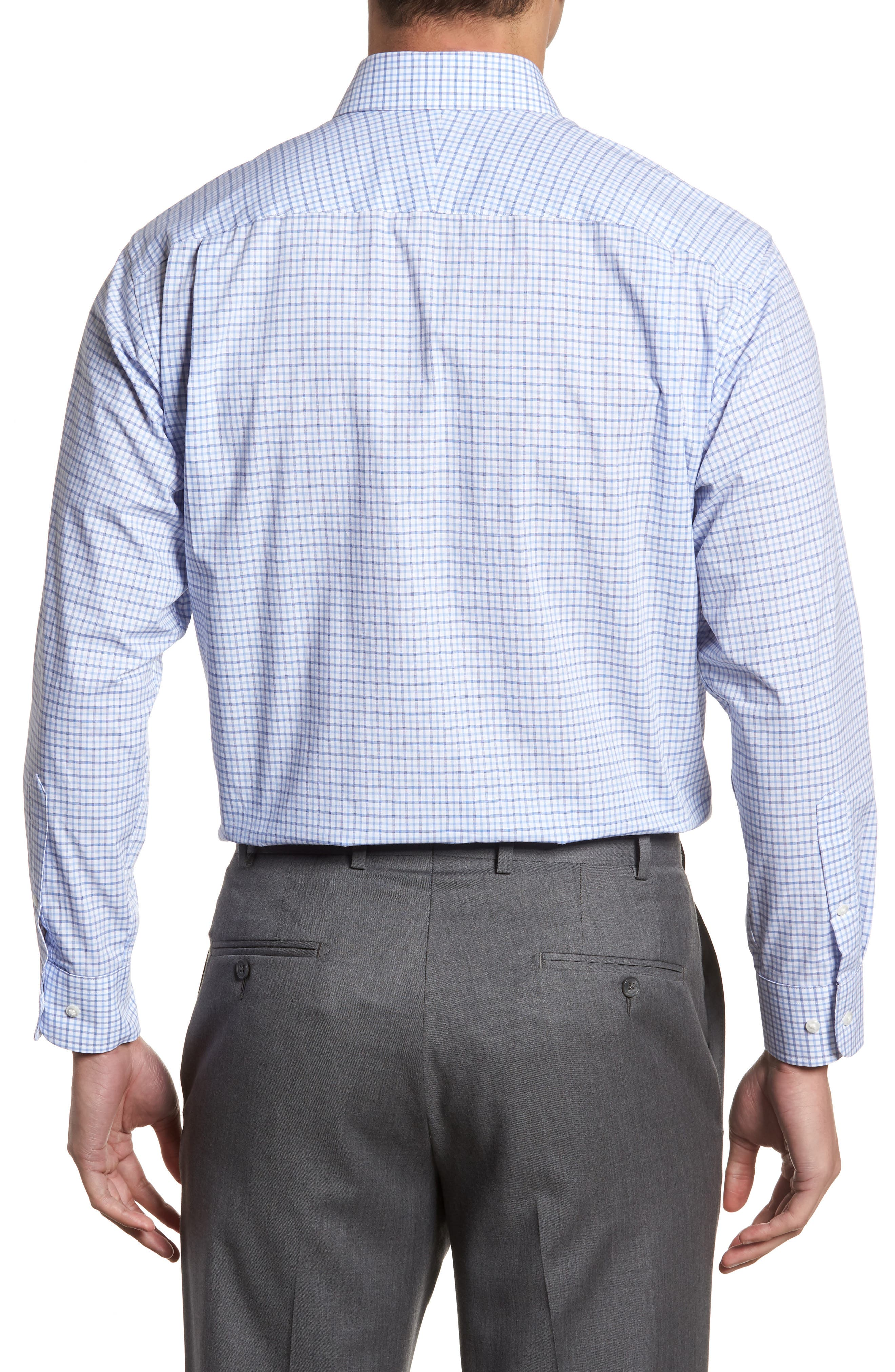 Classic Fit Check Dress Shirt,                             Alternate thumbnail 10, color,