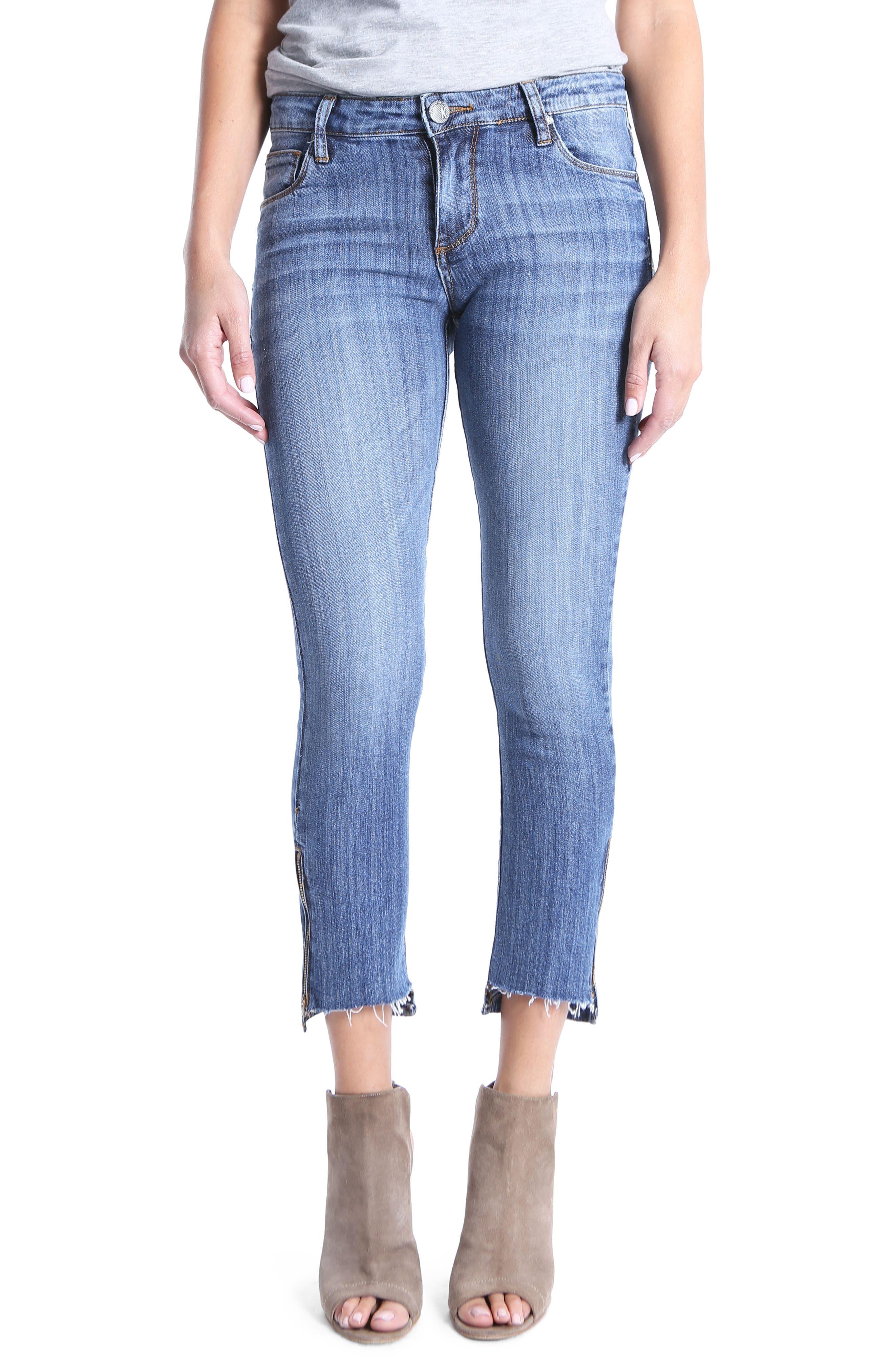 Reese Step Hem Ankle Jeans,                             Main thumbnail 1, color,                             466