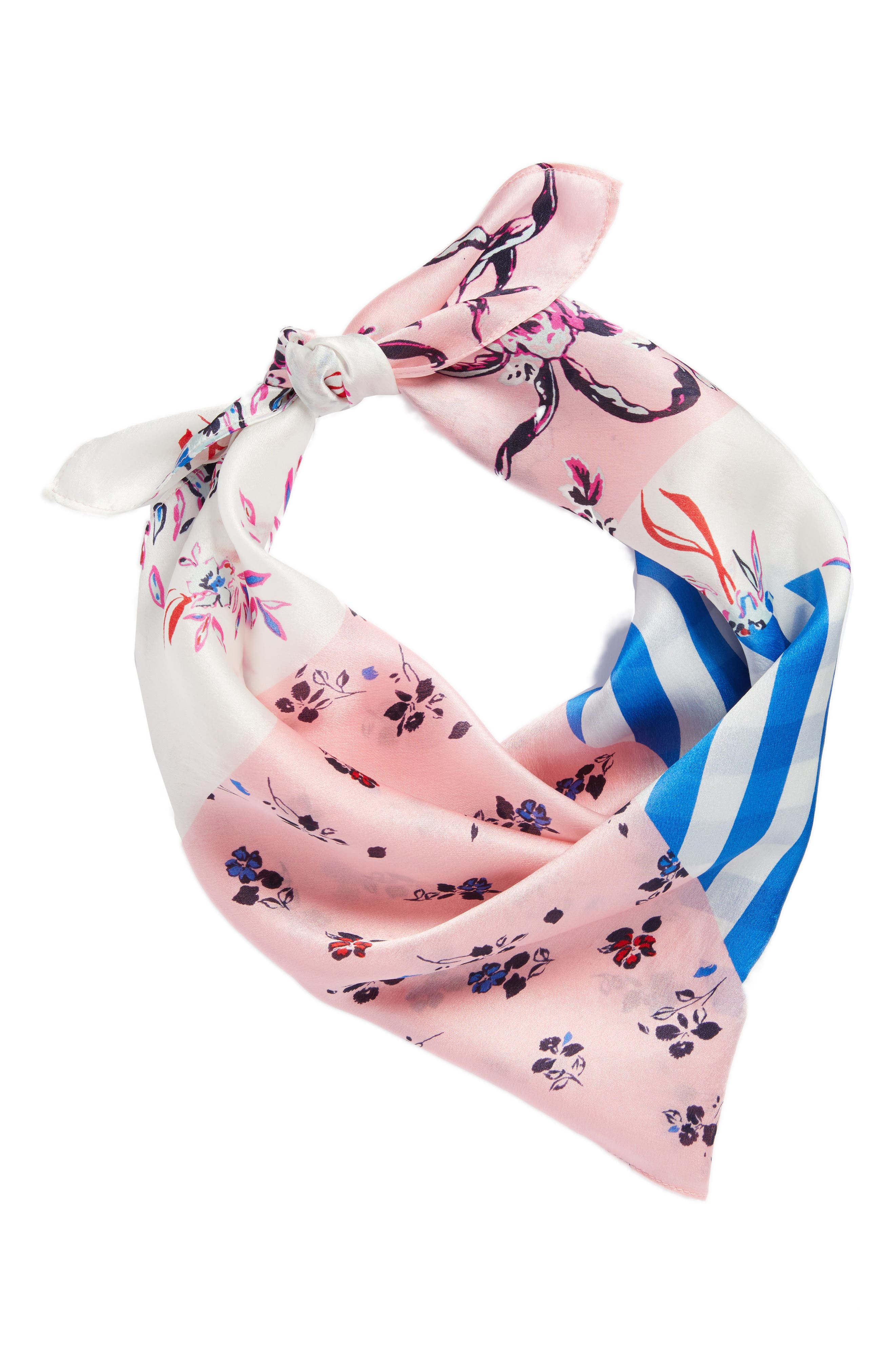 Print Silk Scarf,                             Alternate thumbnail 16, color,