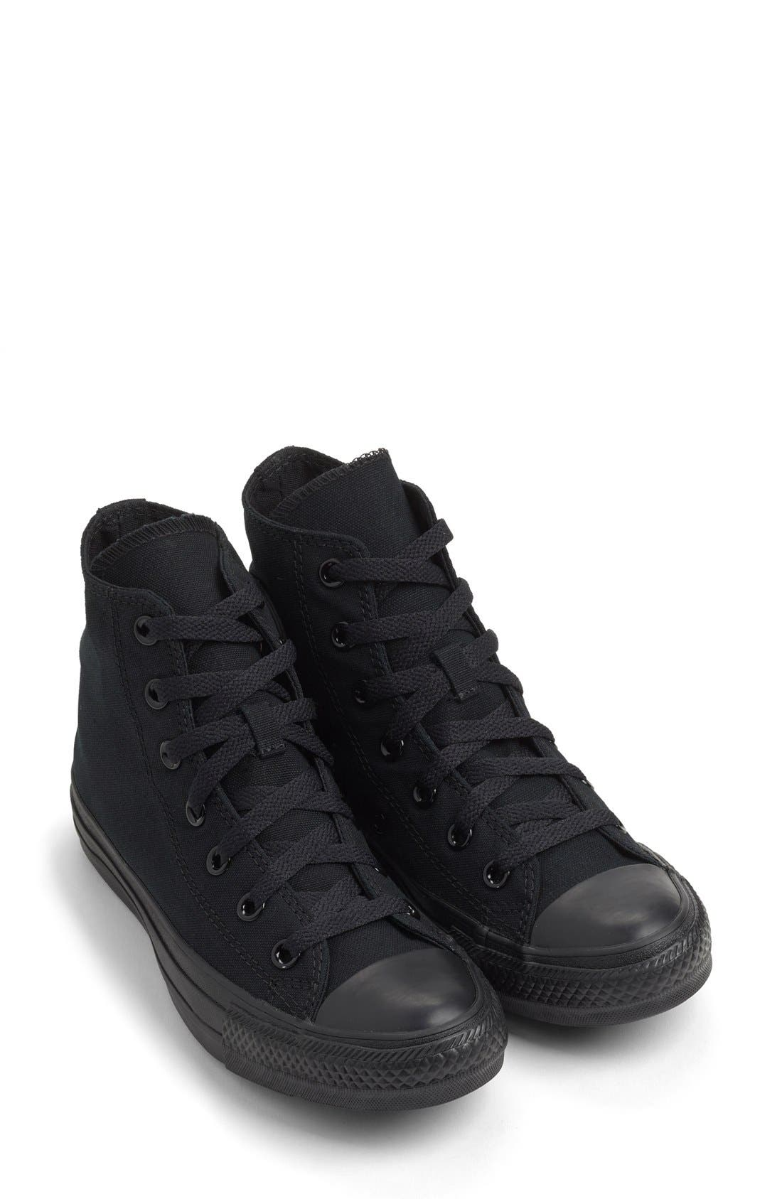 Chuck Taylor<sup>®</sup> All Star<sup>®</sup> Monochrome High Top Sneaker,                             Alternate thumbnail 2, color,                             001