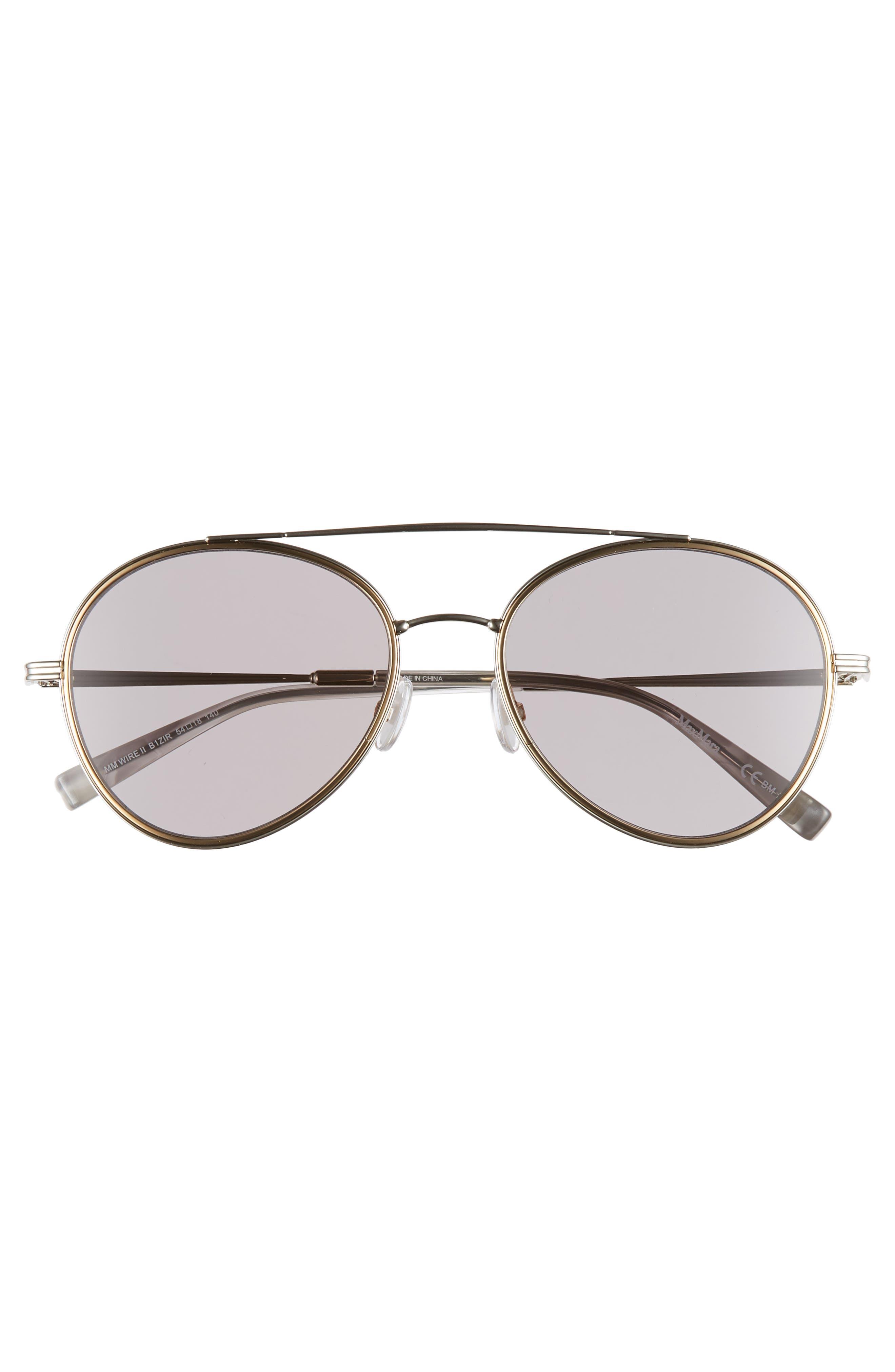 Wire II 54mm Aviator Sunglasses,                             Alternate thumbnail 3, color,                             SILVER
