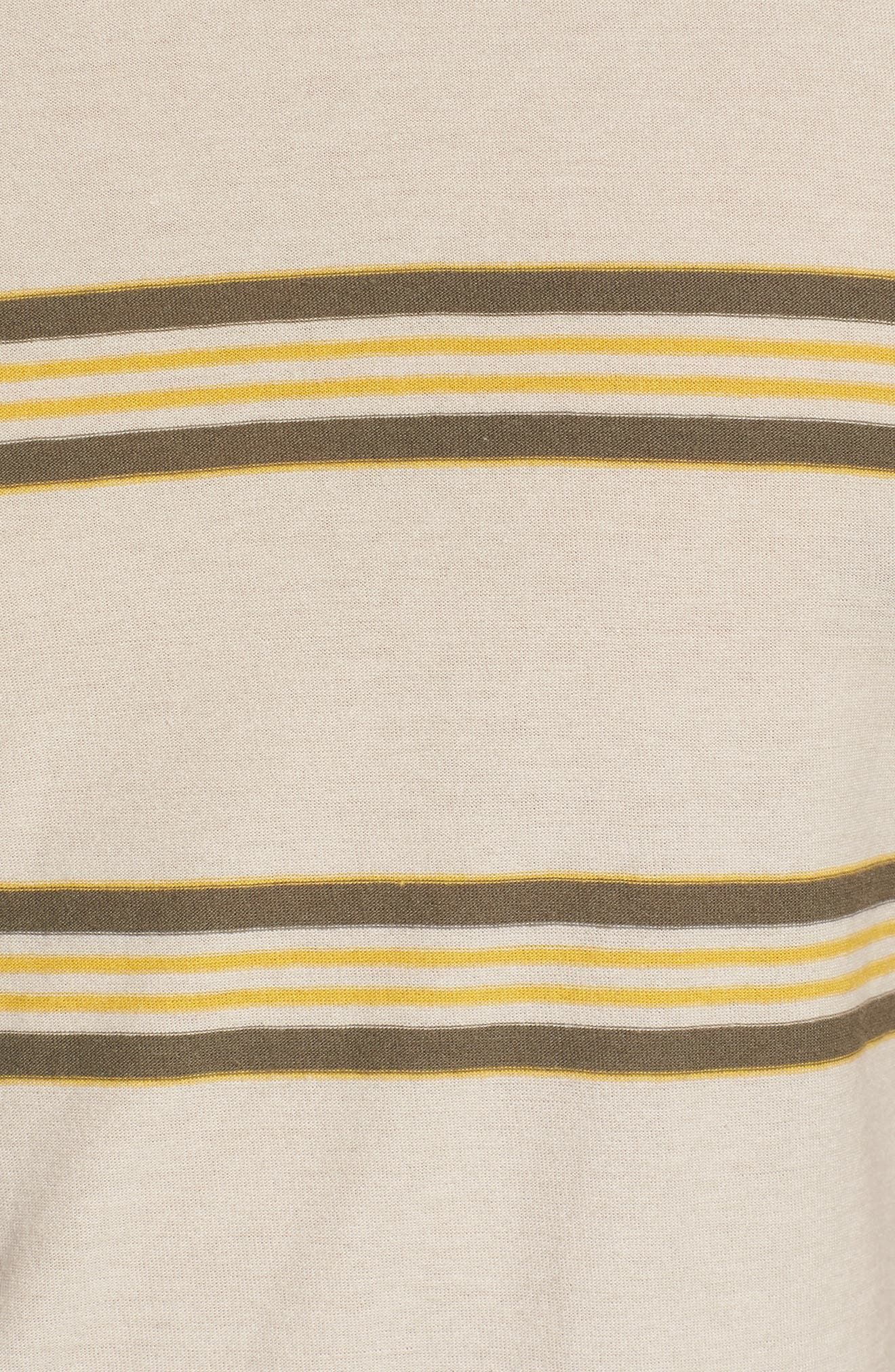 Die Cut Stripe T-Shirt,                             Alternate thumbnail 5, color,                             STONE
