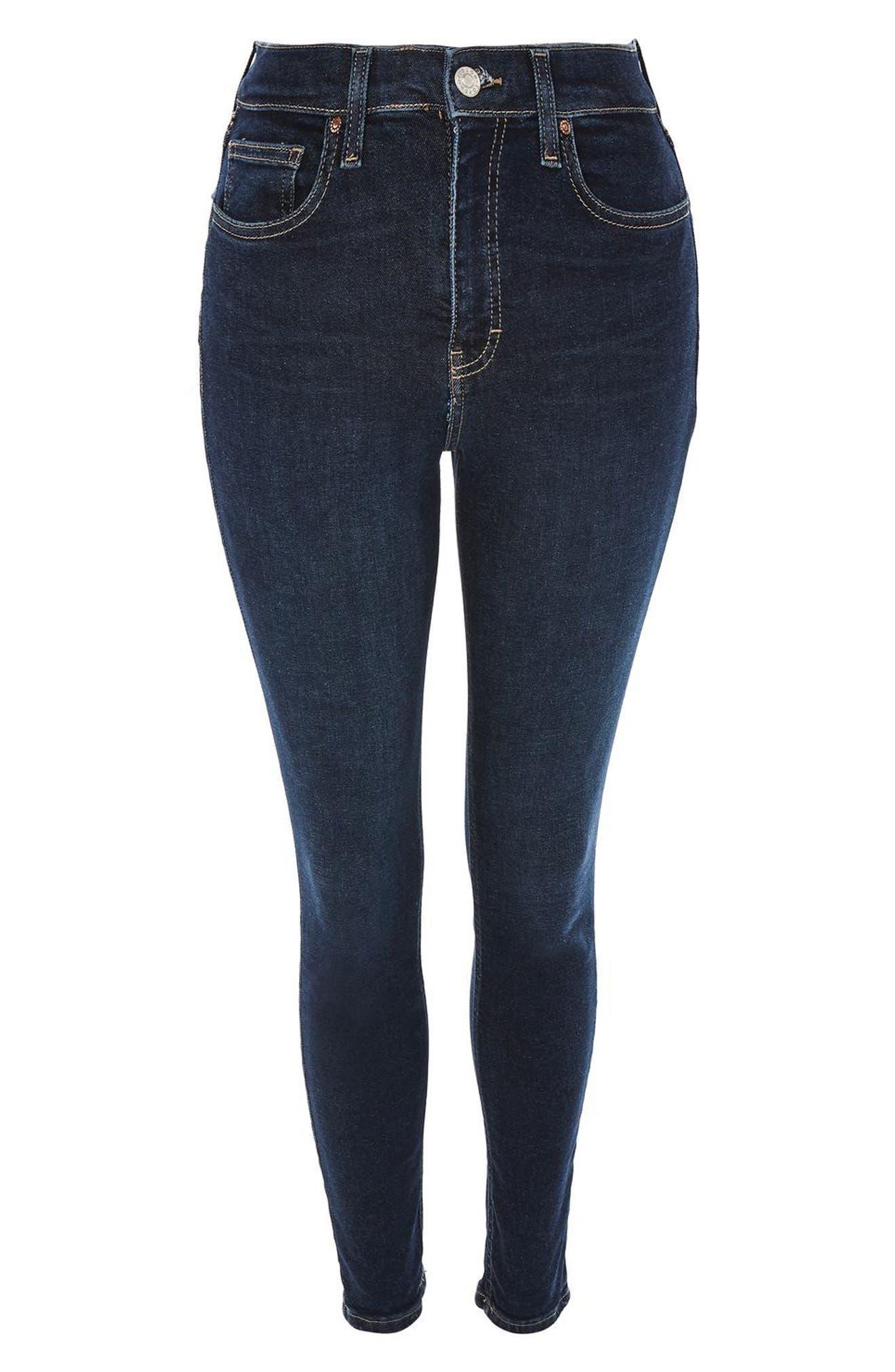 TOPSHOP,                             Jamie High Waist Ankle Skinny Jeans,                             Alternate thumbnail 5, color,                             401
