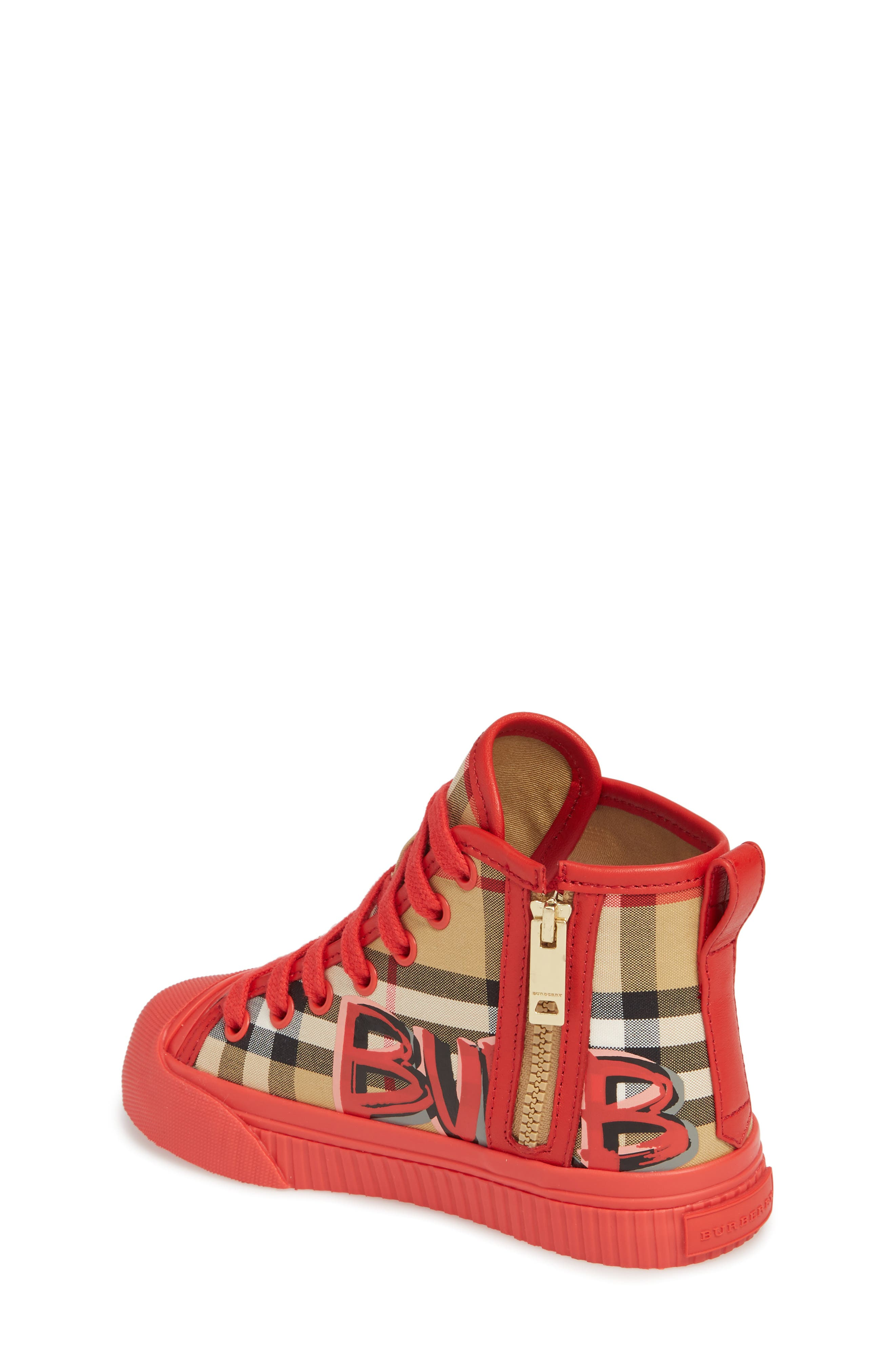 Mini Kingly High Top Sneaker,                             Alternate thumbnail 2, color,                             BRIGHT RED
