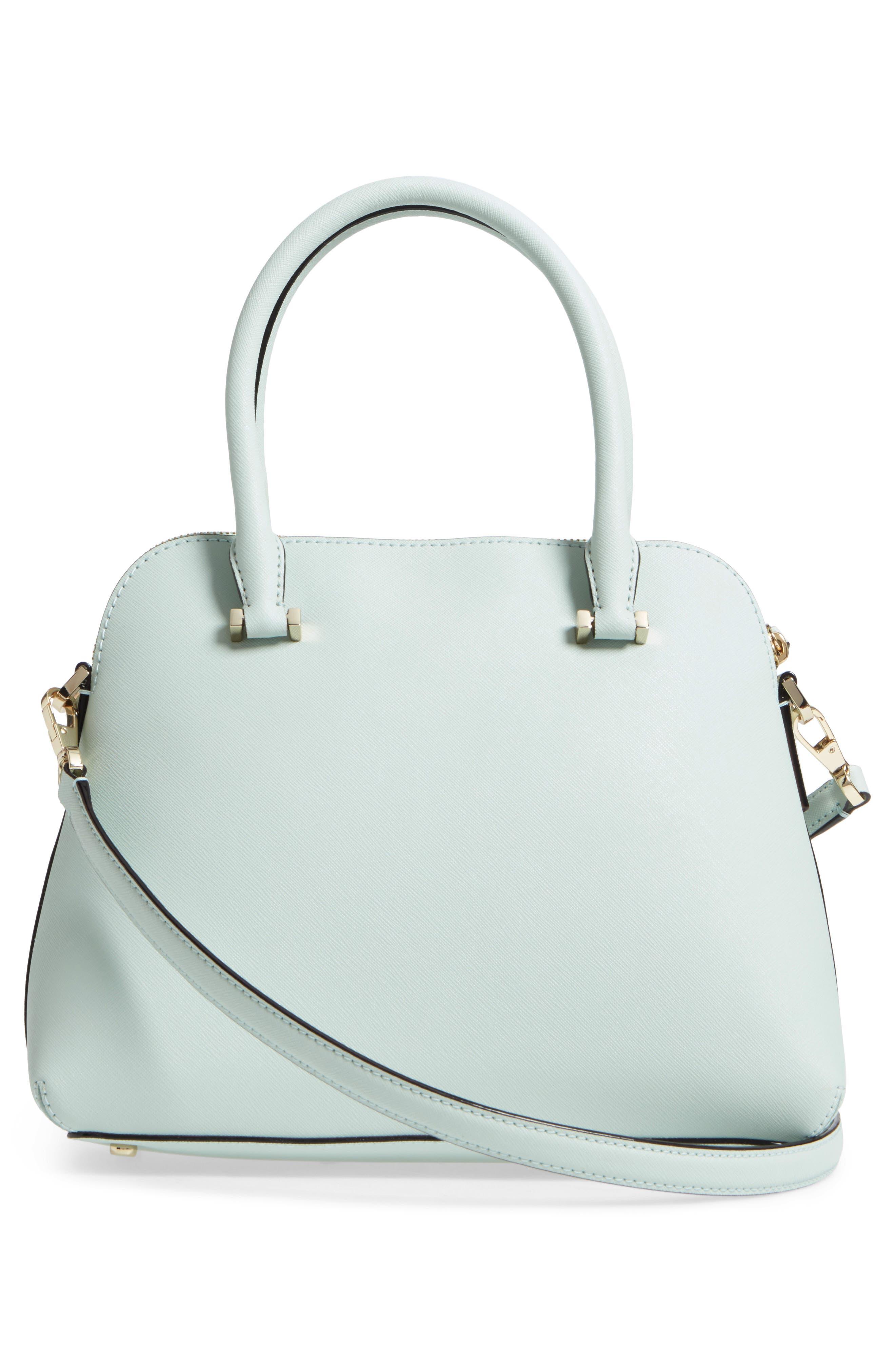 cameron street maise leather satchel,                             Alternate thumbnail 3, color,                             302