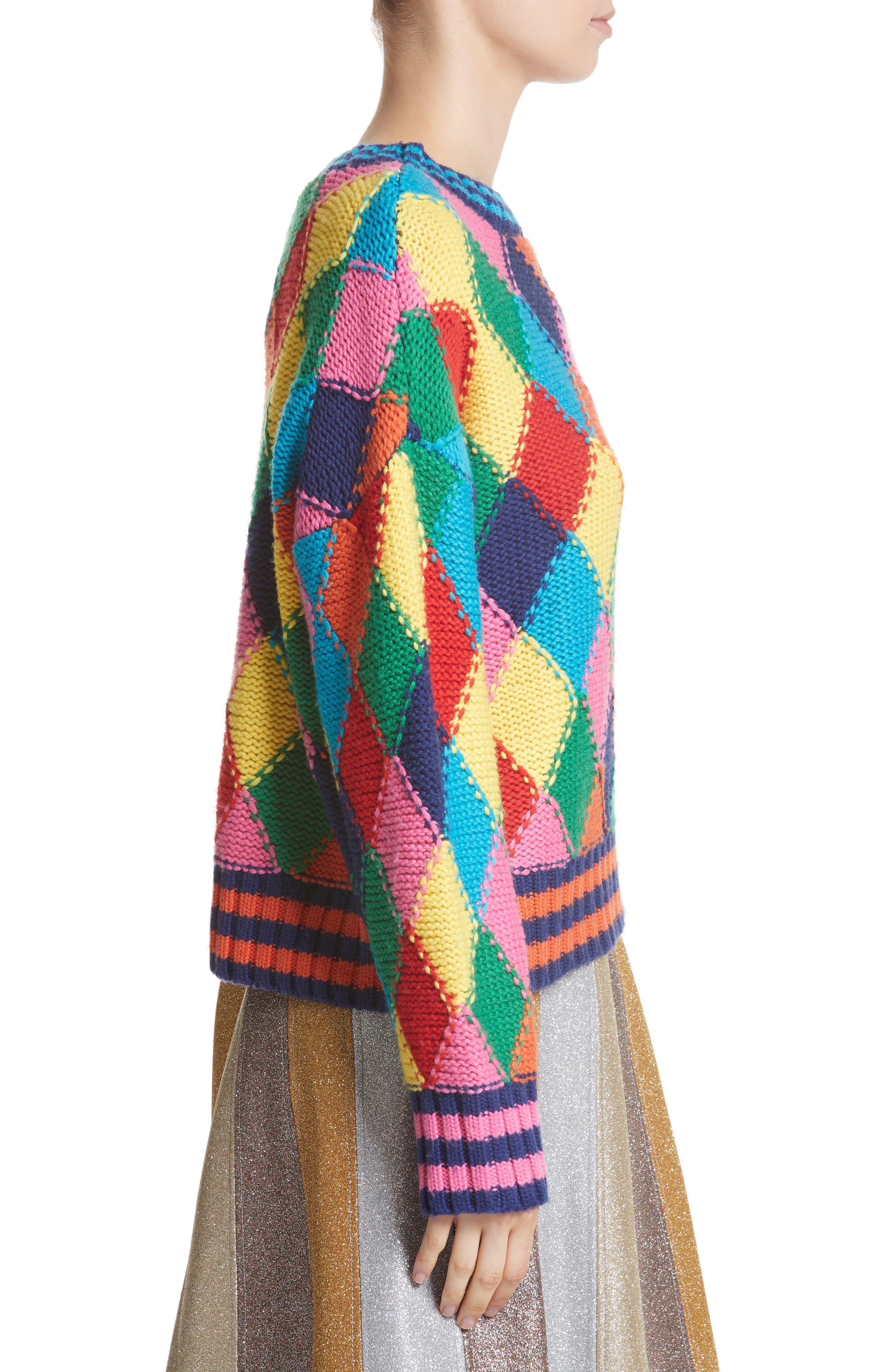 Diamond Stitch Sweater,                             Alternate thumbnail 3, color,                             960