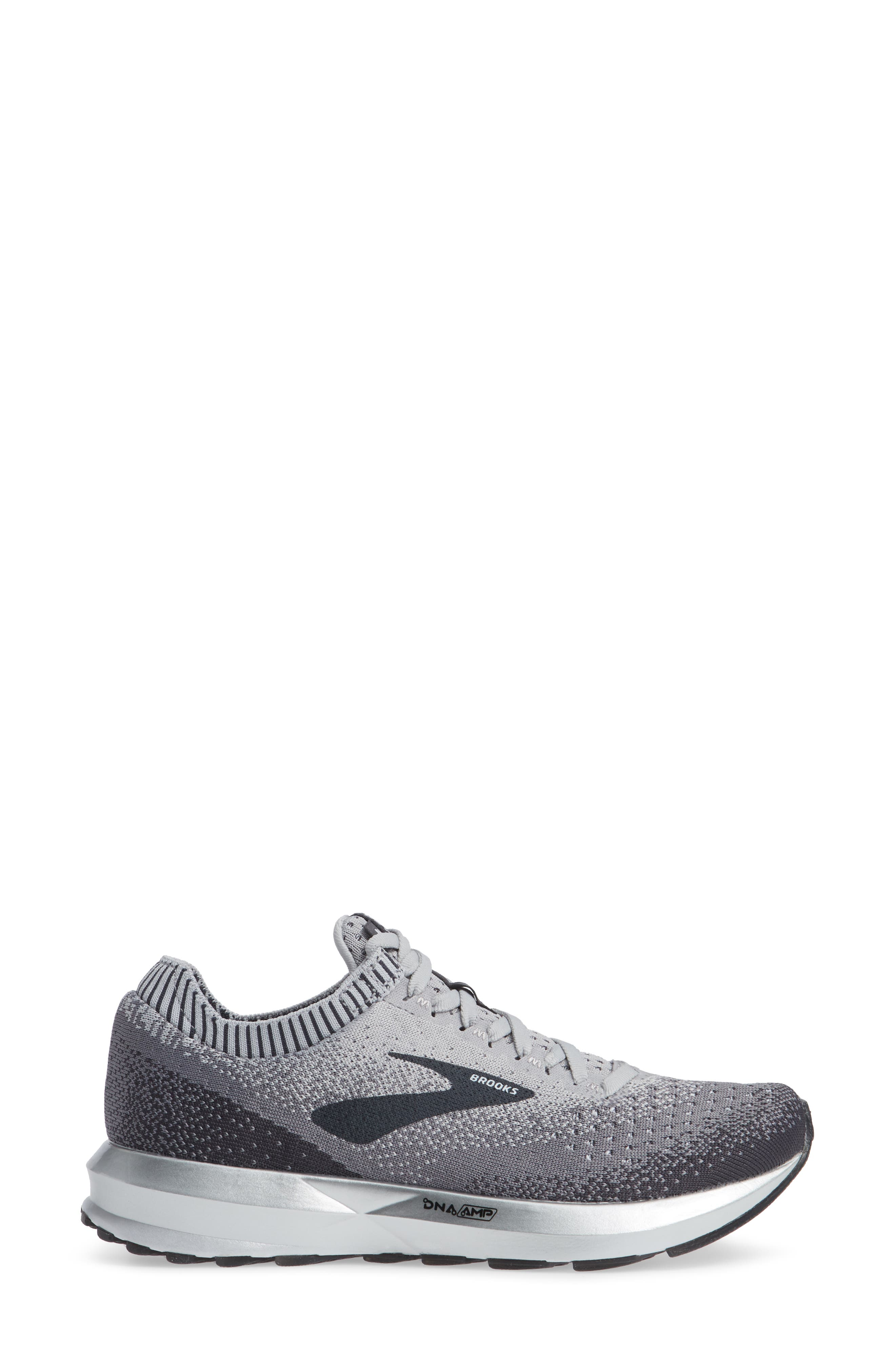 Levitate 2 Running Shoe,                             Alternate thumbnail 3, color,                             GREY/ EBONY/ WHITE
