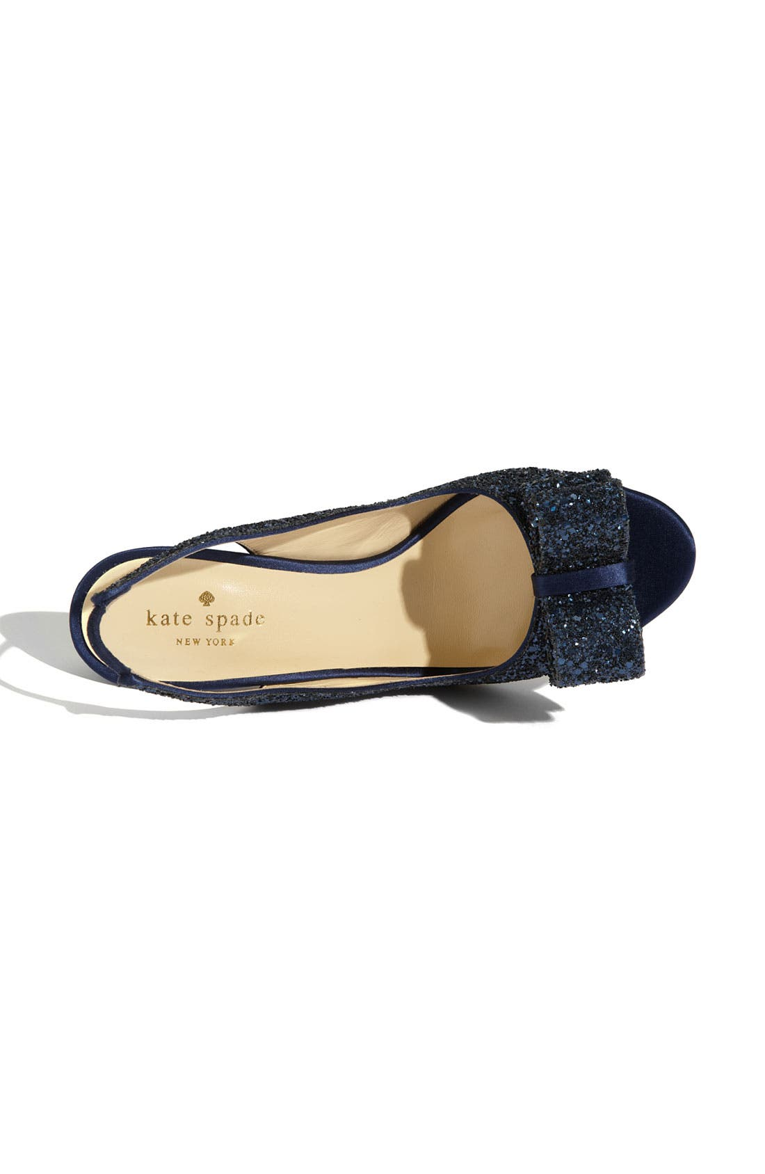 'charm' slingback pump,                             Alternate thumbnail 3, color,                             NAVY GLITTER