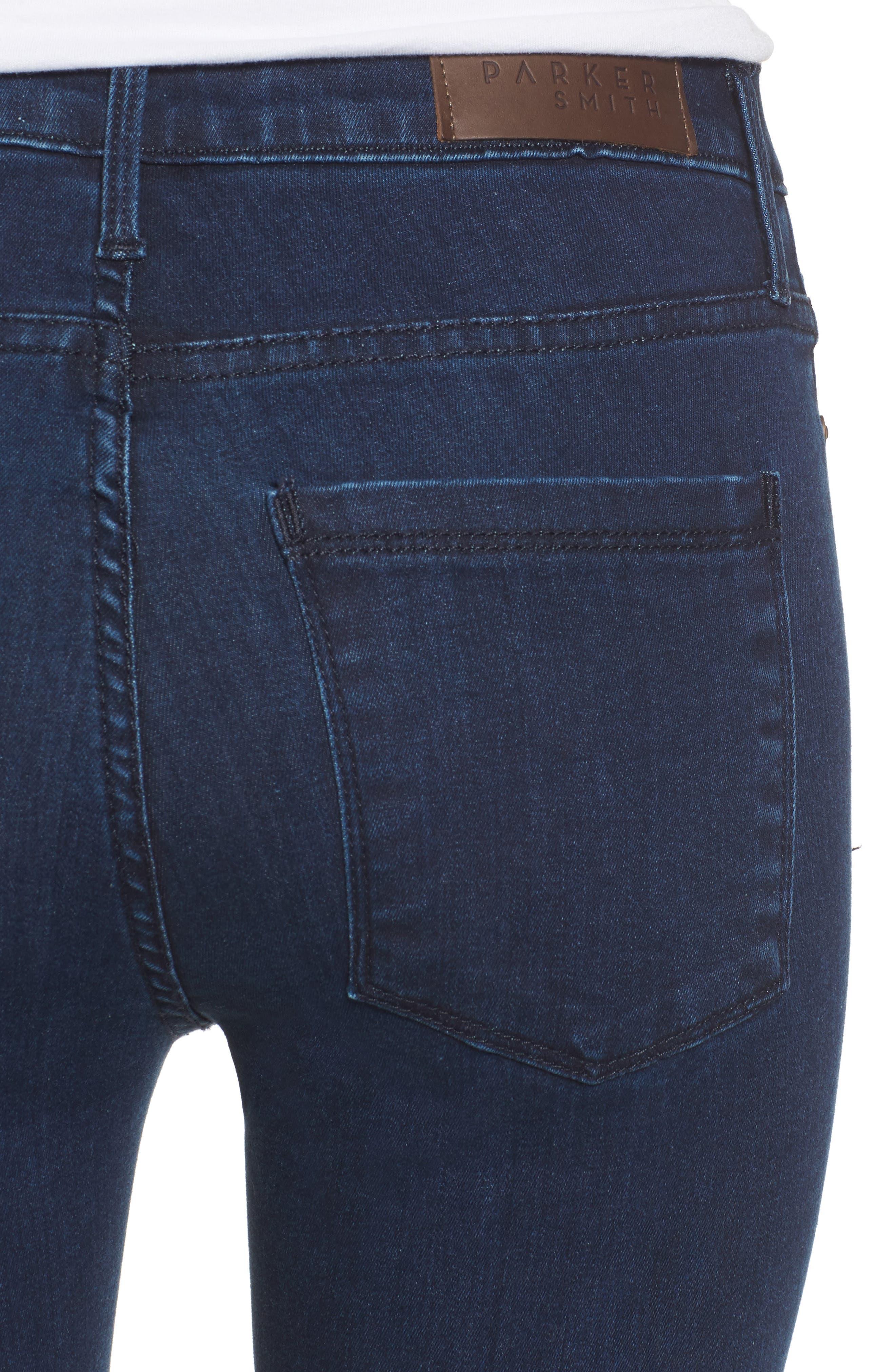 Bombshell High Waist Skinny Jeans,                             Alternate thumbnail 4, color,                             401