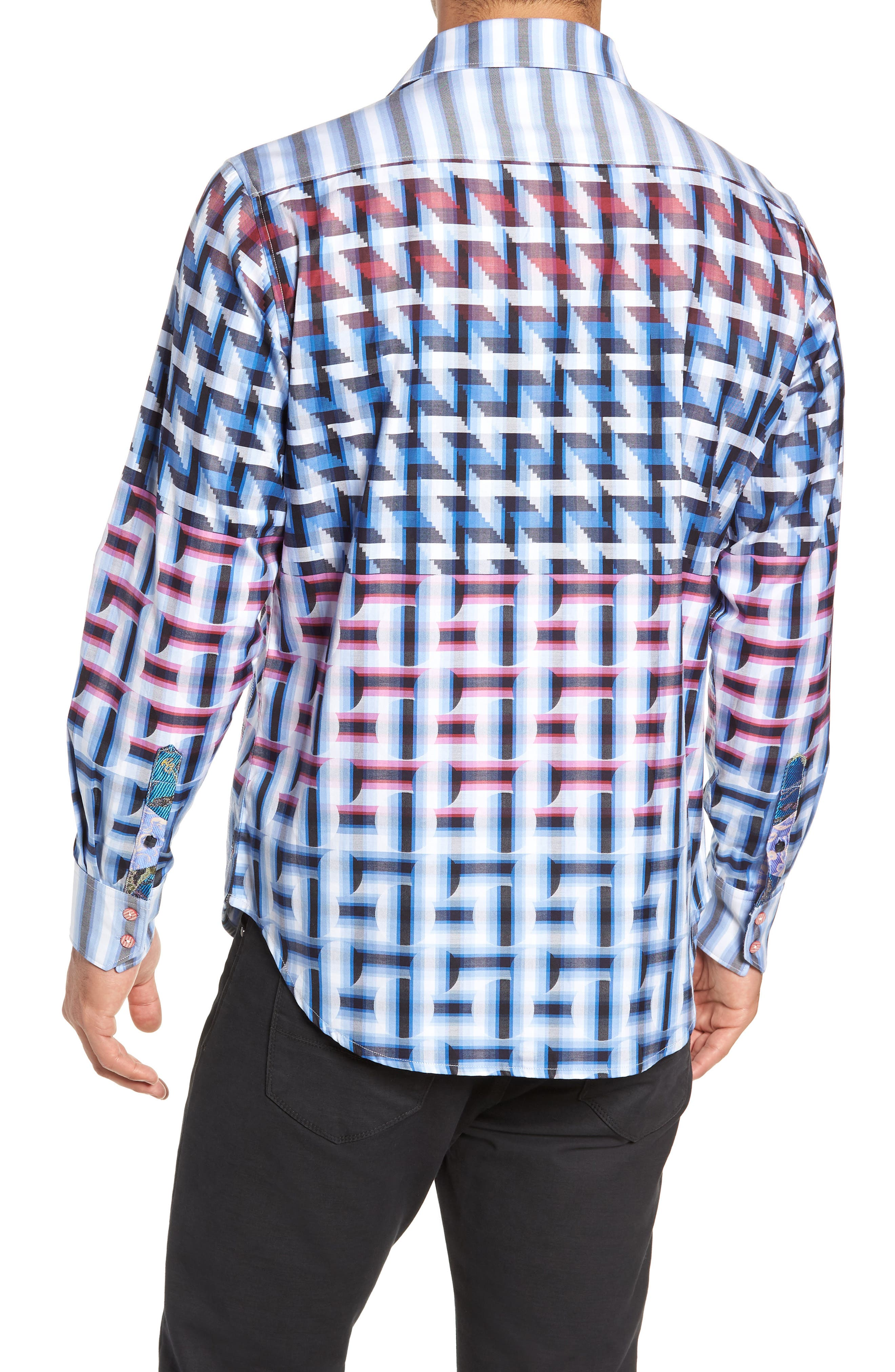 The Steejo Limited Edition Classic Fit Sport Shirt,                             Alternate thumbnail 3, color,                             MULTI