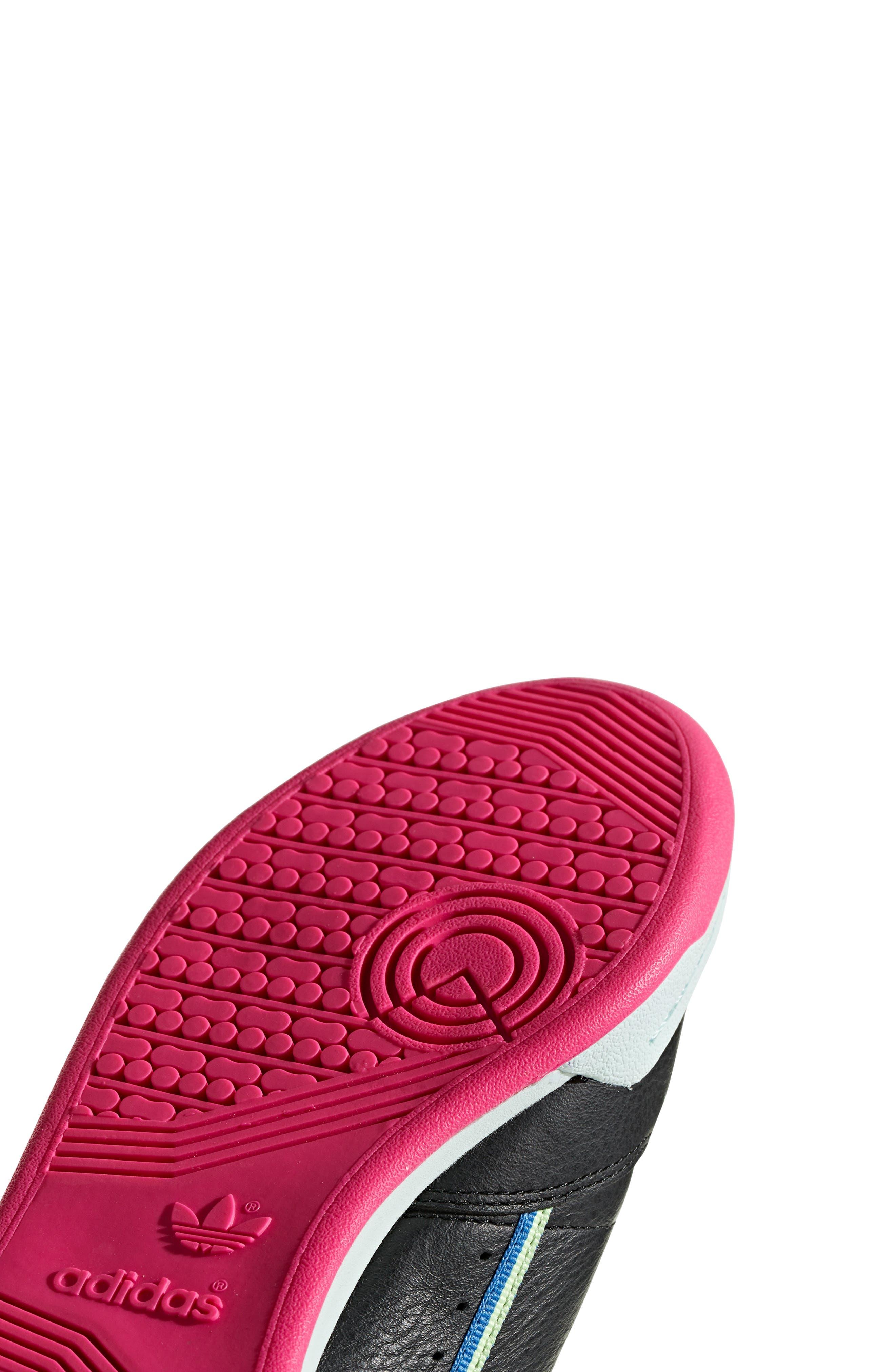 ADIDAS,                             Continental 80 Sneaker,                             Alternate thumbnail 8, color,                             BLACK/ HI-RES YELLOW/ BLUE