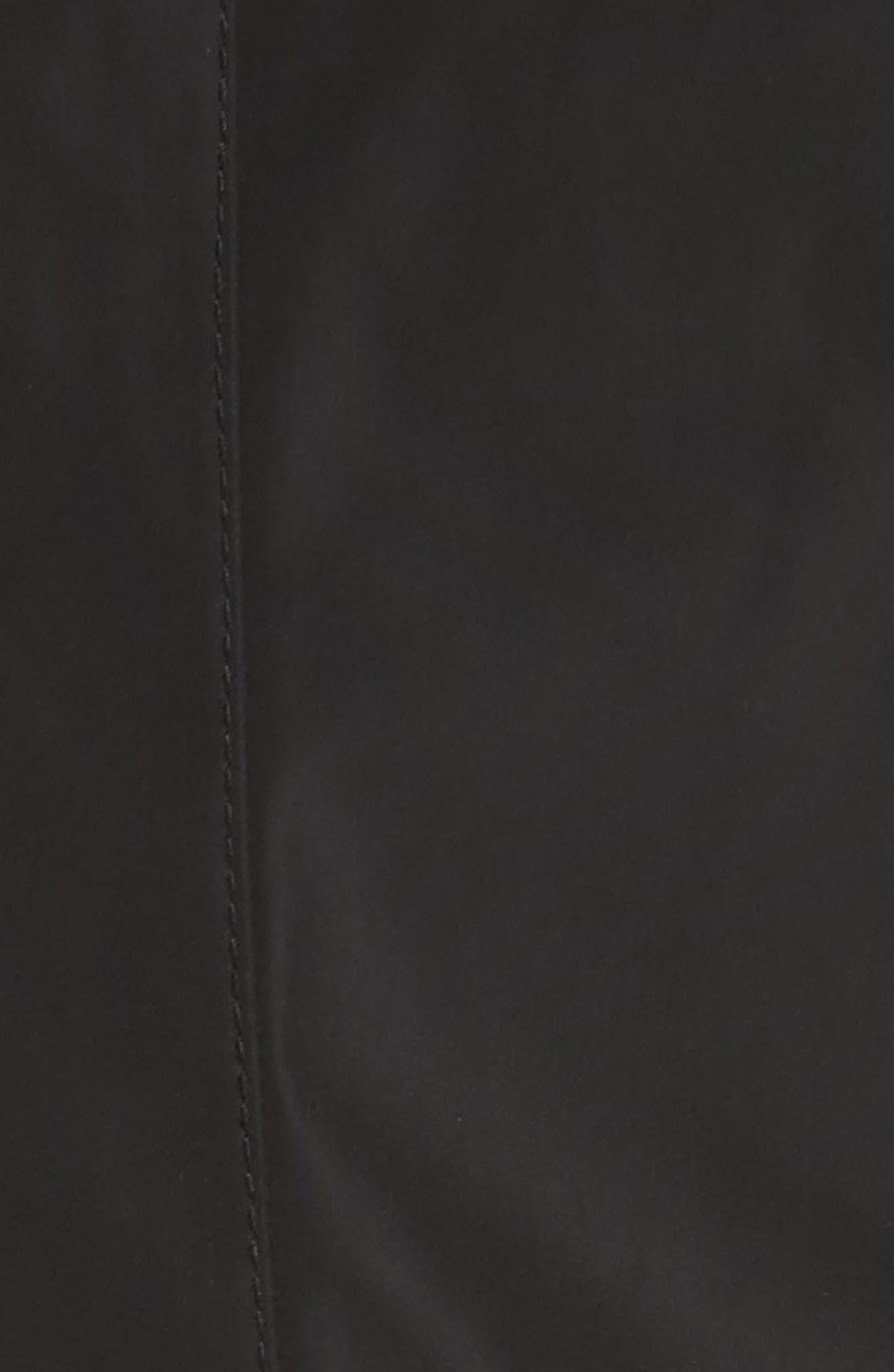 Bonded Satin Peplum Rain Jacket,                             Alternate thumbnail 6, color,                             001