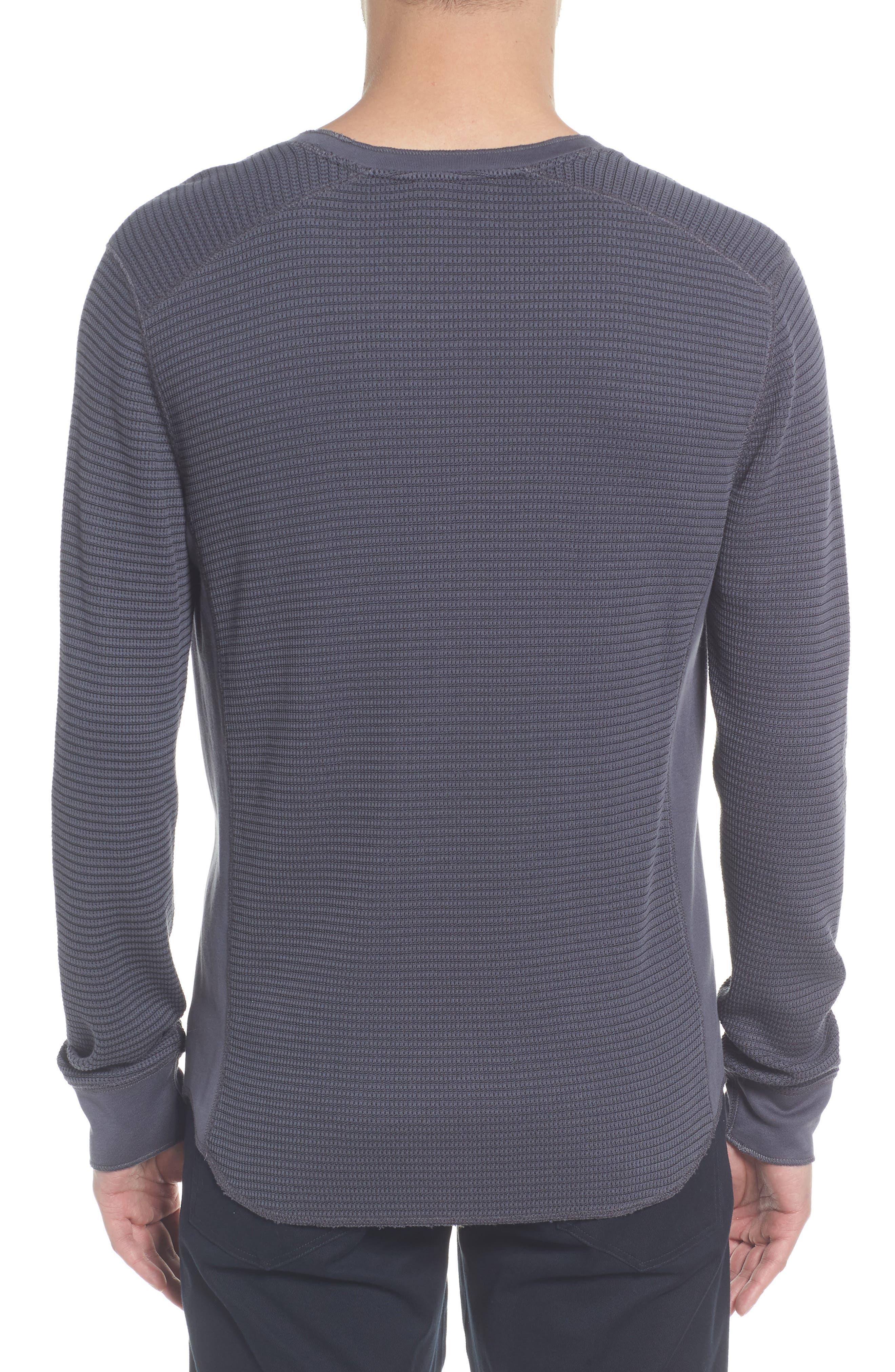 Regular Fit Waffle Knit Cotton Blend Crewneck T-Shirt,                             Alternate thumbnail 2, color,                             TITANIUM