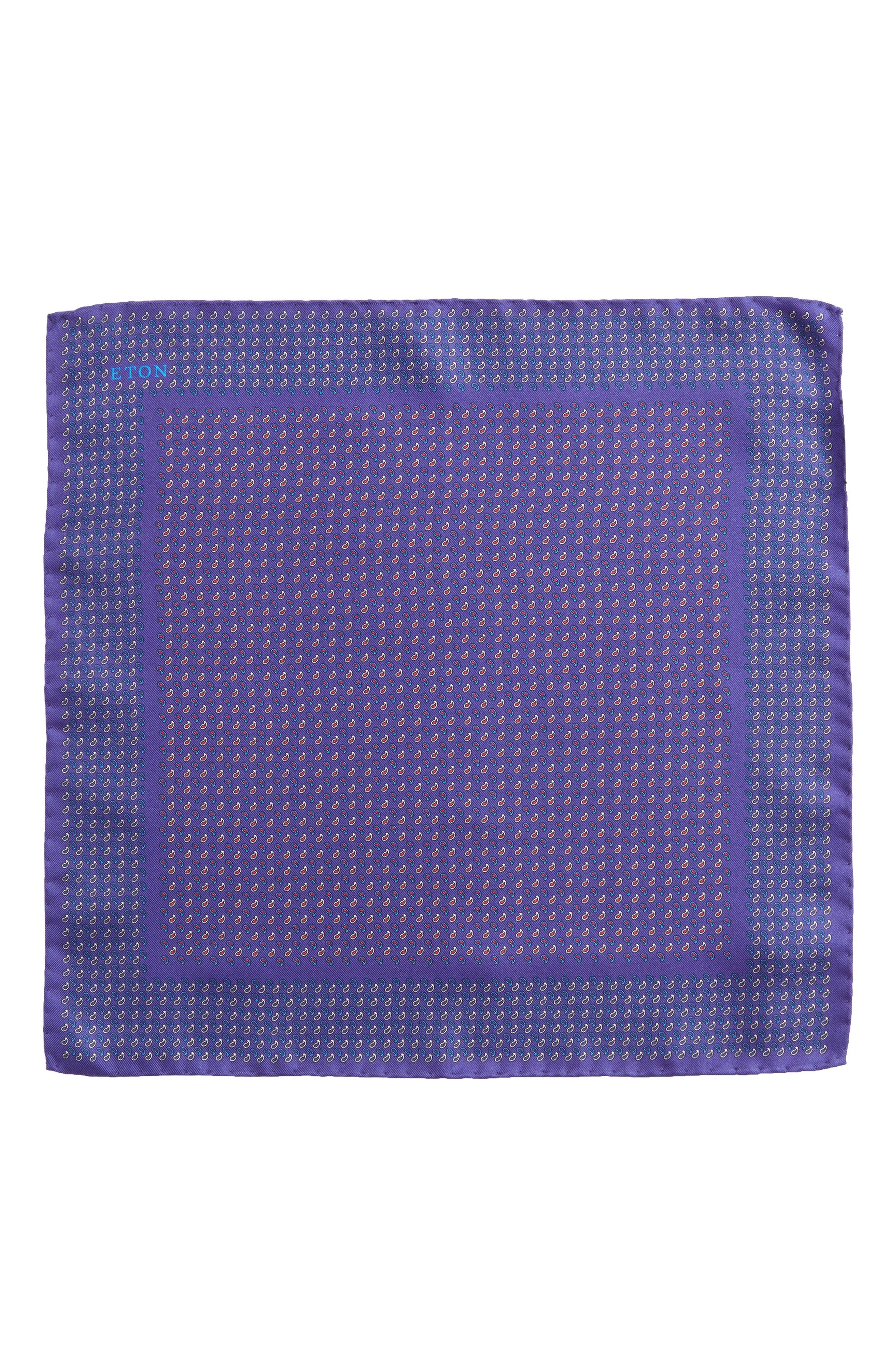 Paisley Silk Pocket Square,                             Alternate thumbnail 5, color,