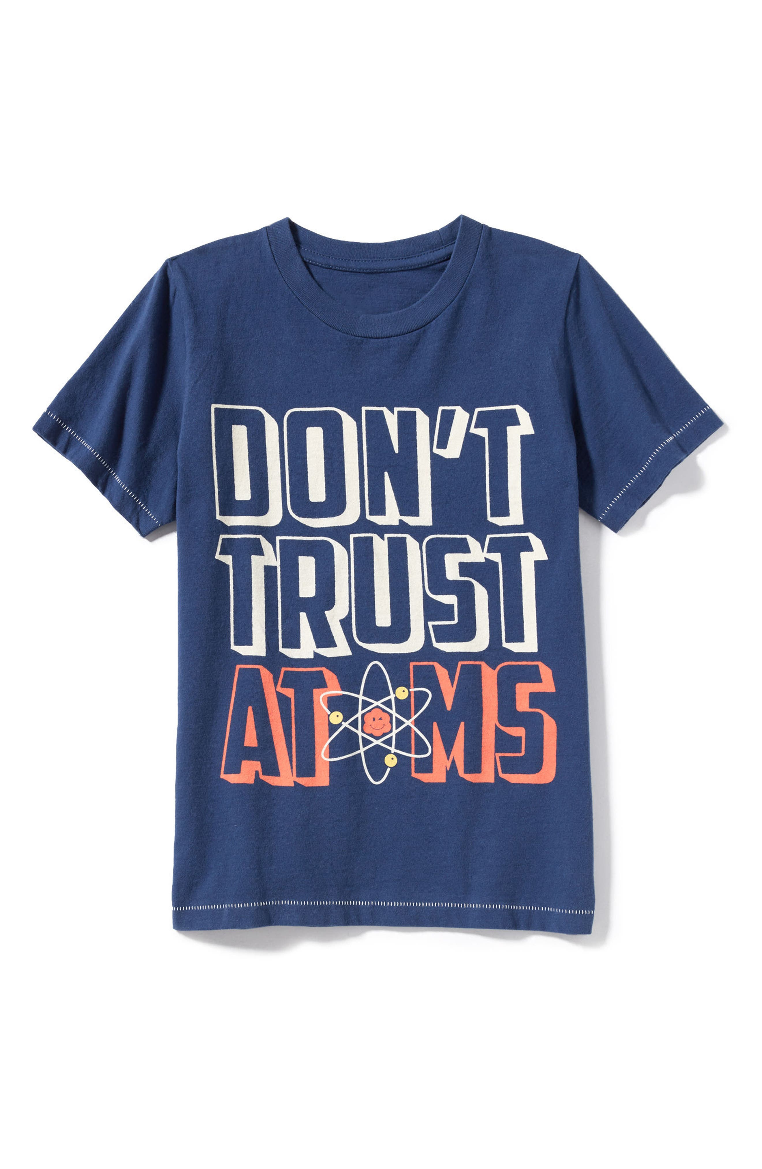 Don't Trust Atoms T-Shirt,                             Alternate thumbnail 3, color,                             400