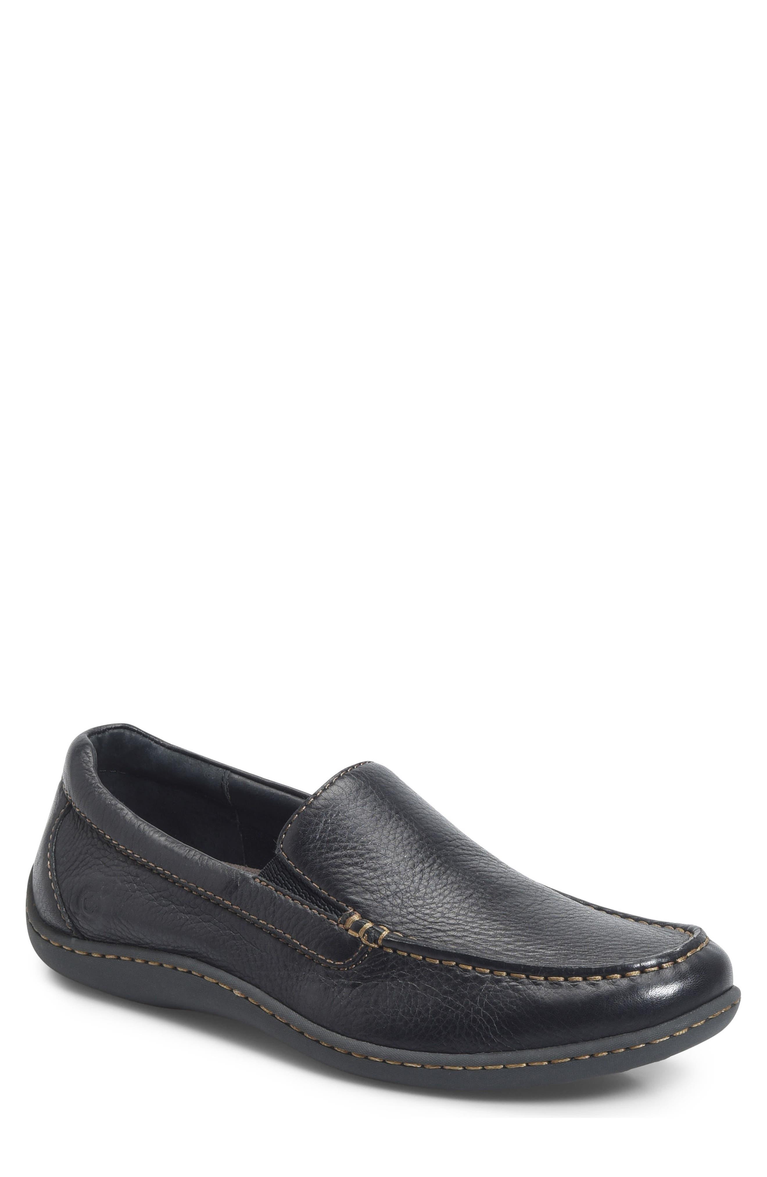 BØRN Brompton Loafer, Main, color, BLACK LEATHER