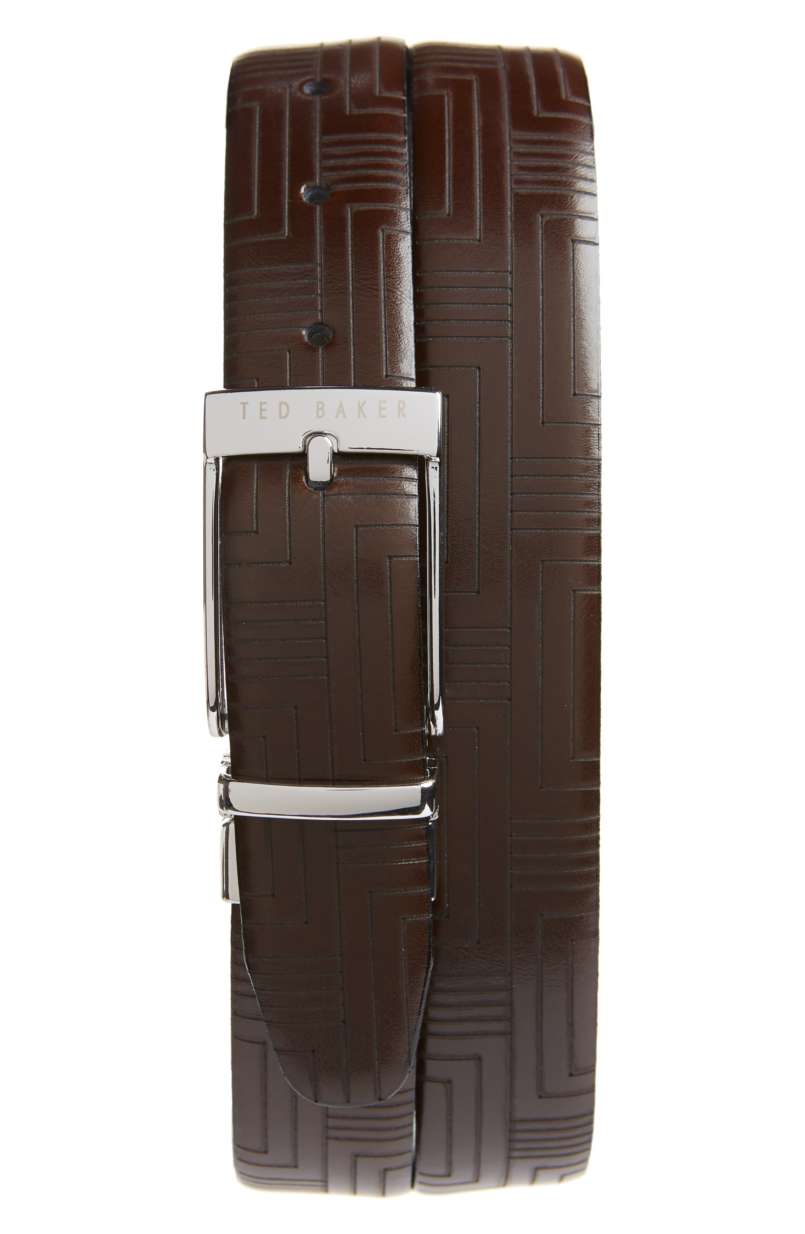 Ted Baker London Reversible Leather Belt, Chocolate