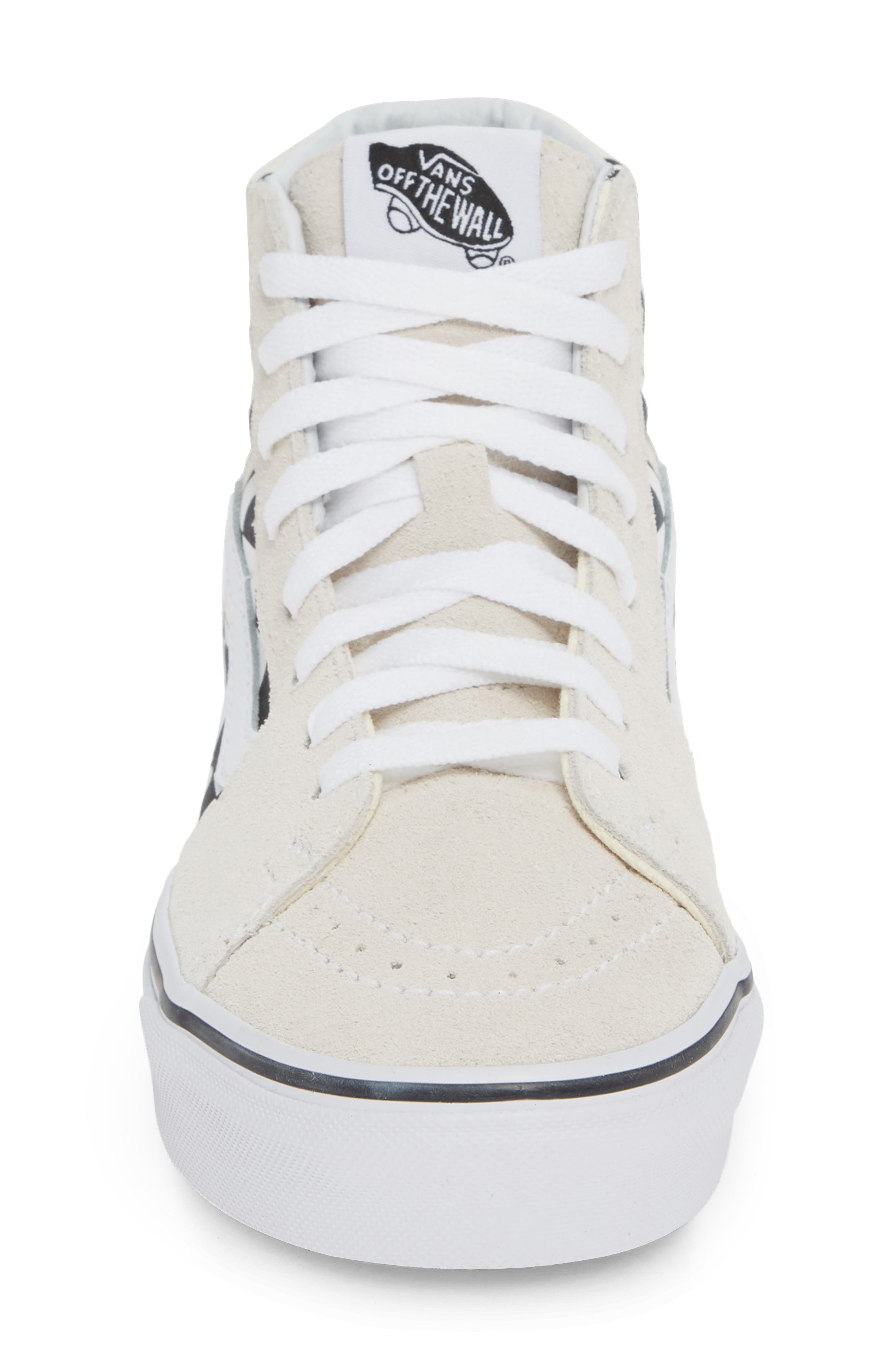 Sk8-Hi Checker Sneaker,                             Alternate thumbnail 4, color,                             CLASSIC WHITE/ TRUE WHITE