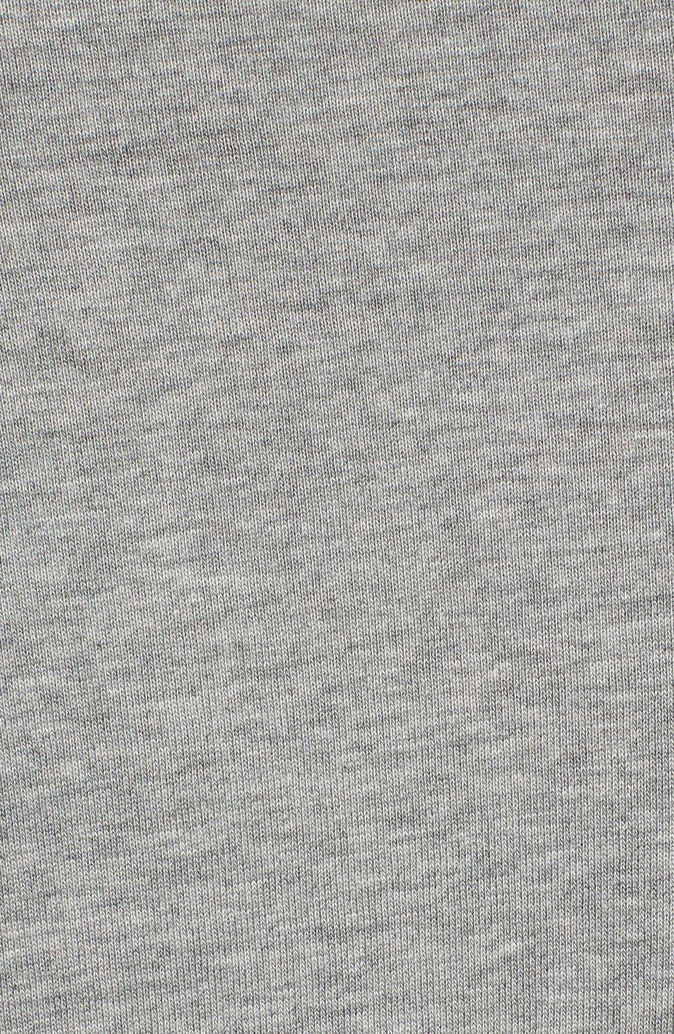 Windrunner Colorblocked T-Shirt,                             Alternate thumbnail 5, color,                             BLACK/ DK GREY HEATHER/ WHITE