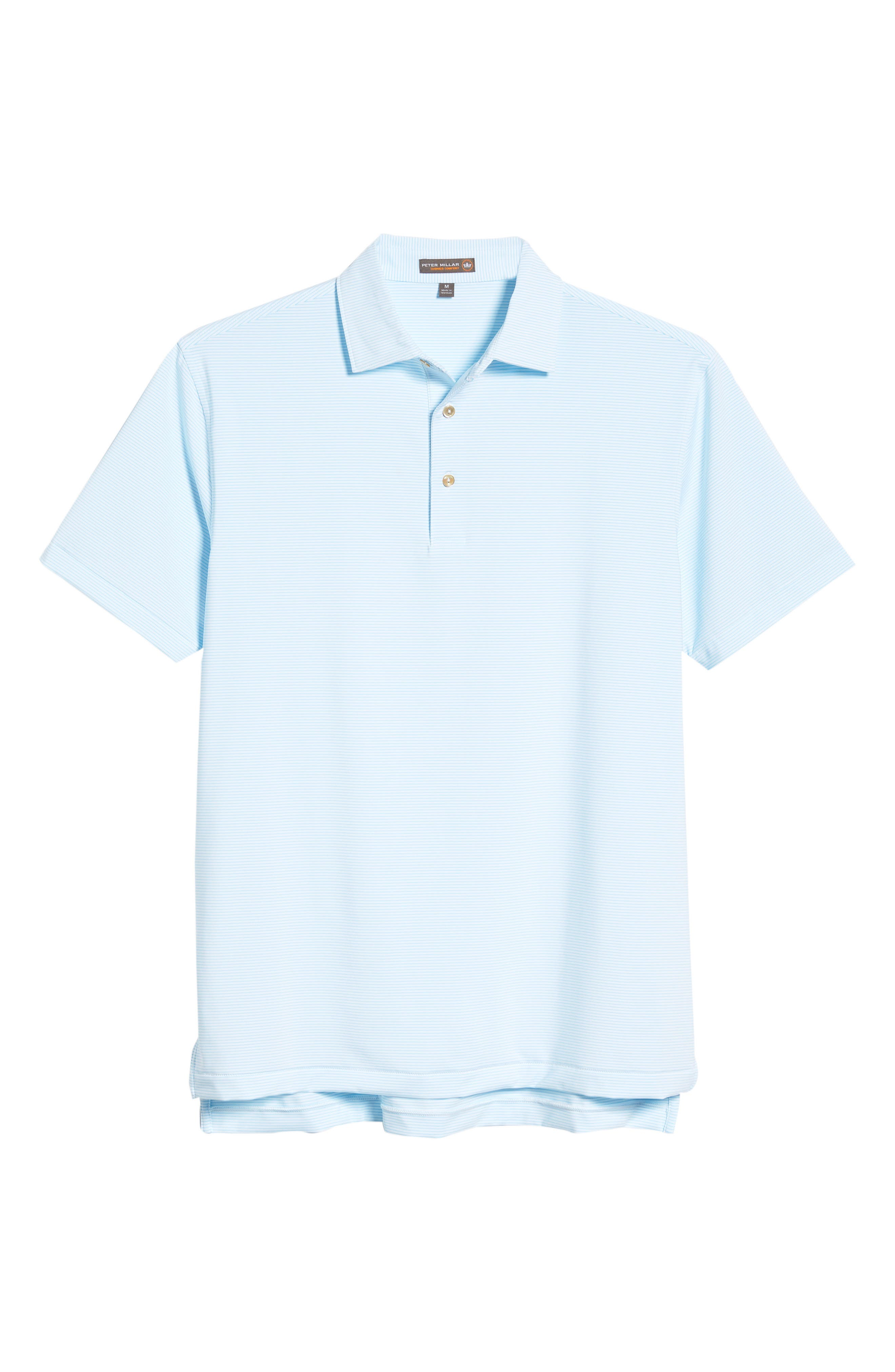Halford Stripe Stretch Jersey Polo,                             Alternate thumbnail 6, color,                             100