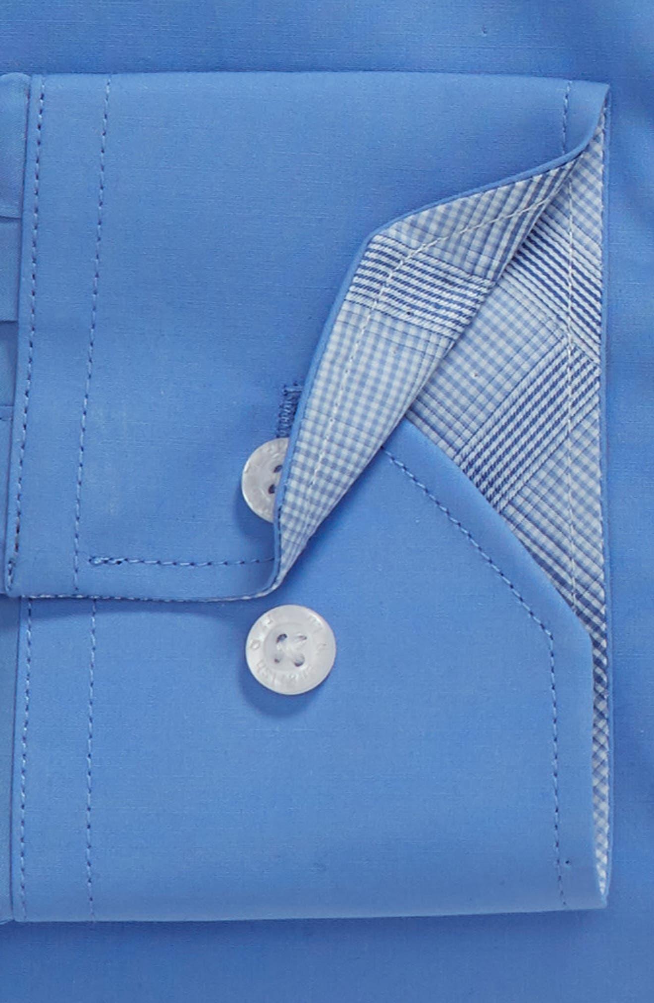Regular Fit Stretch Solid Dress Shirt,                             Alternate thumbnail 6, color,                             BLUE