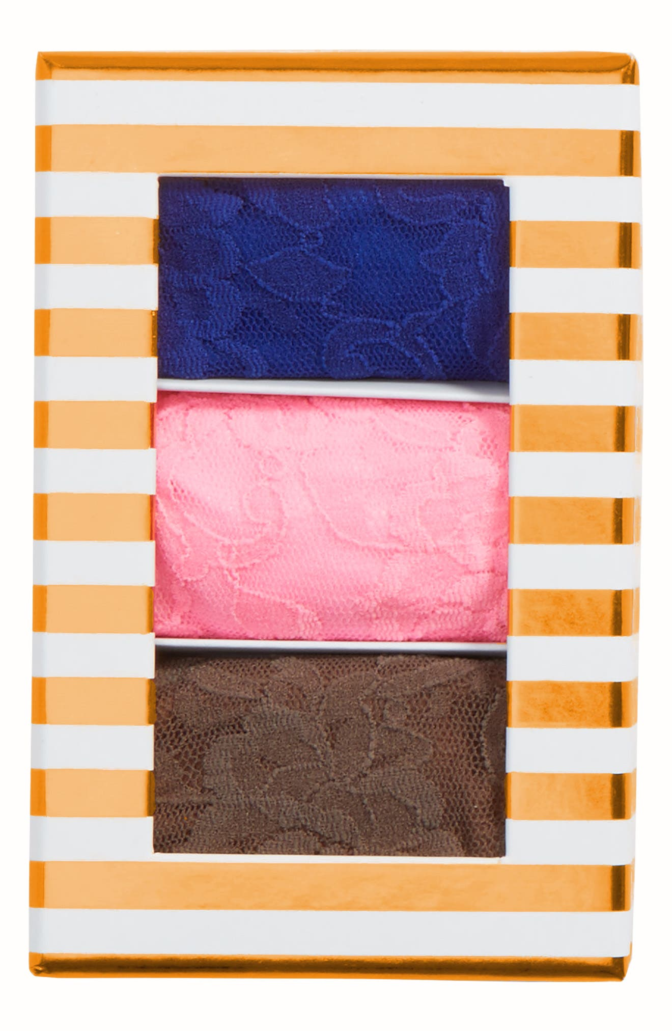 Stripe 3-Pack Original Rise Thongs,                             Alternate thumbnail 4, color,