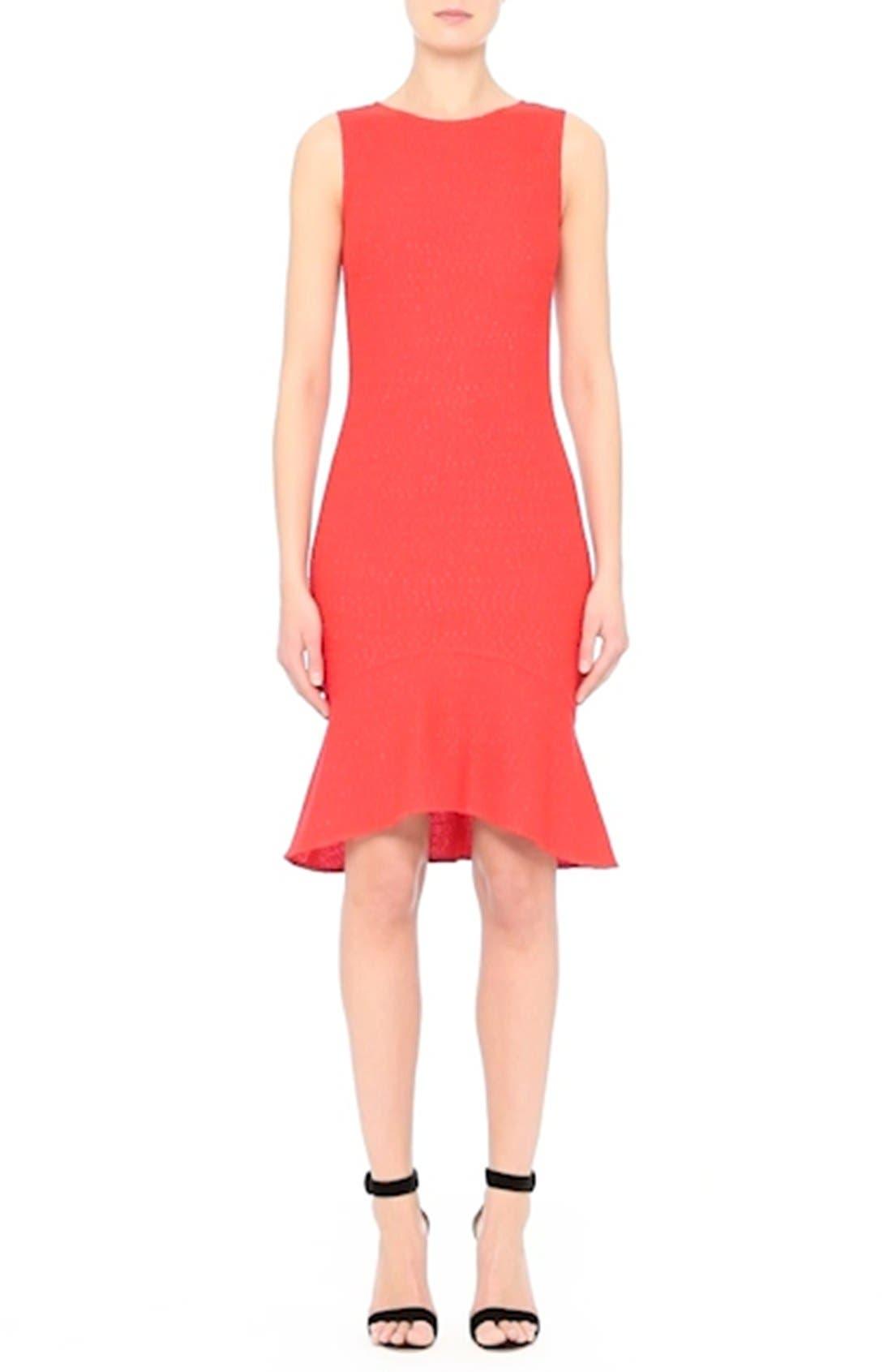 Ribbon Knit Flounce Dress,                             Alternate thumbnail 9, color,                             610