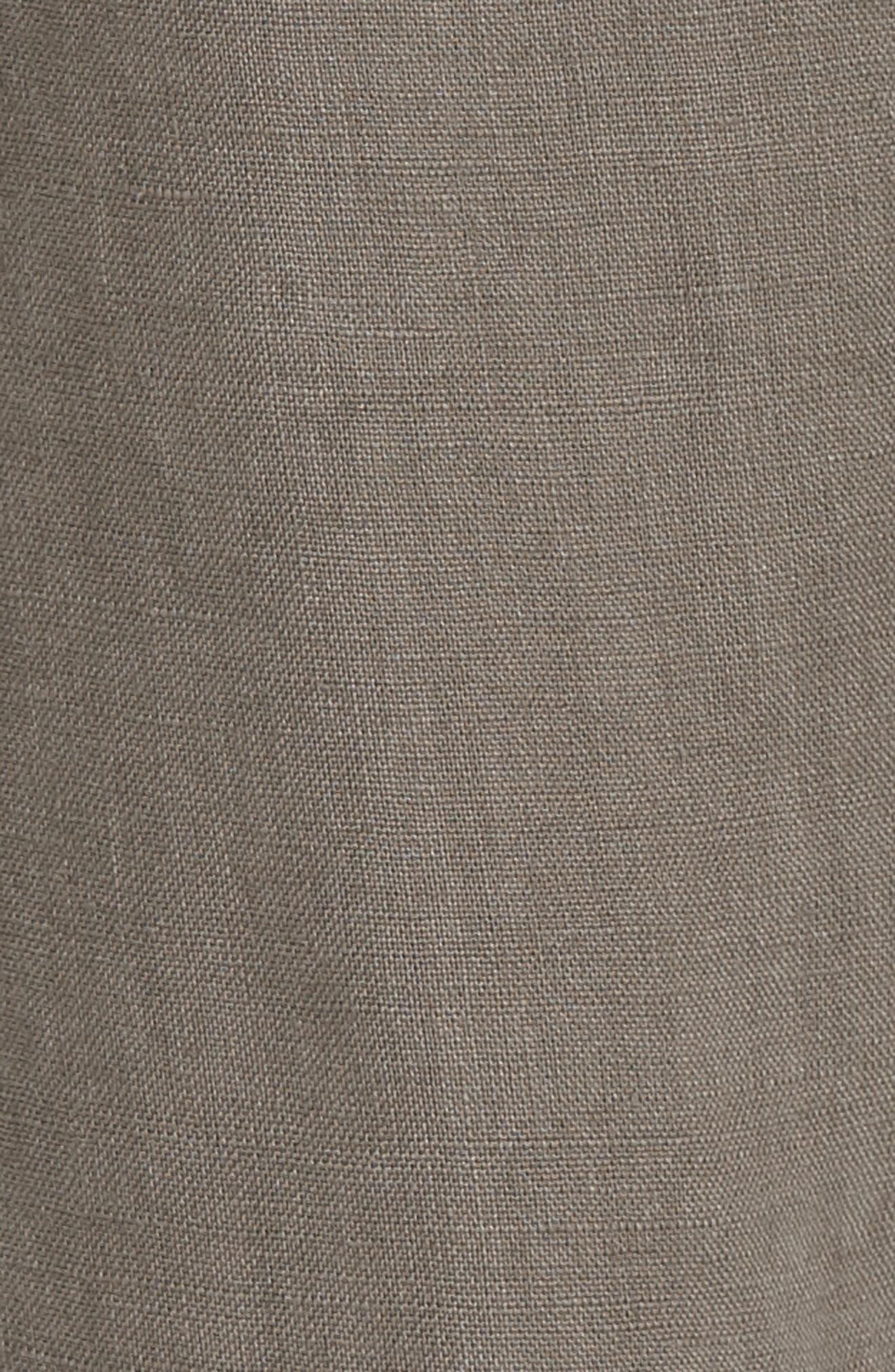 Erlette Linen Tie Cuff Crop Pants,                             Alternate thumbnail 10, color,