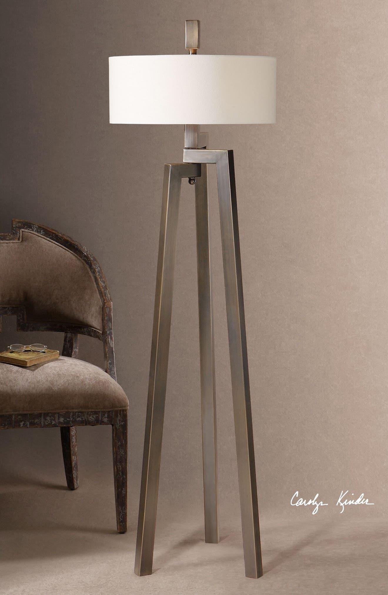 'Mondovi' Hand Forged Metal Floor Lamp,                             Alternate thumbnail 3, color,                             200