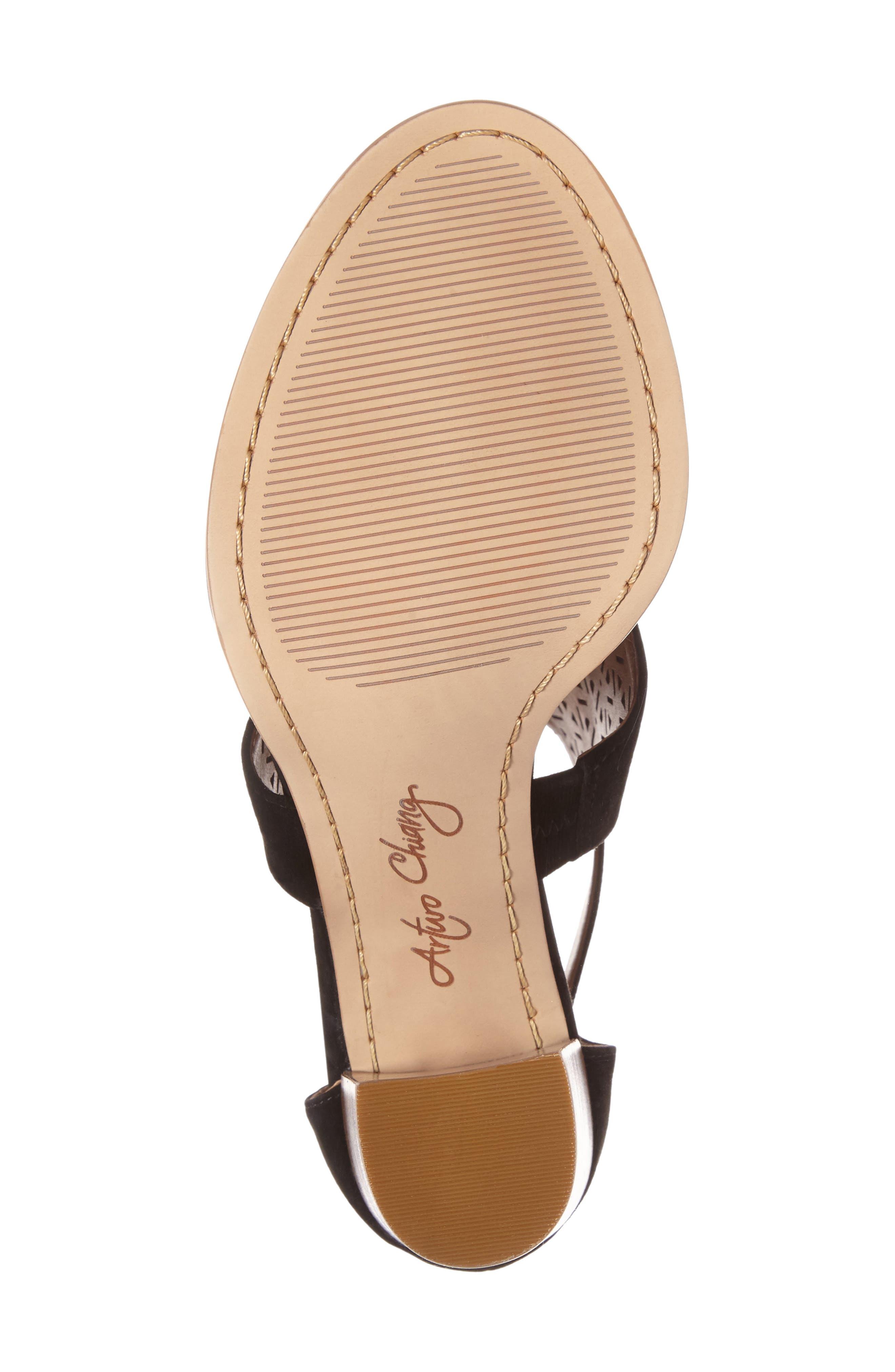 Edythe Block Heel Sandal,                             Alternate thumbnail 4, color,                             001