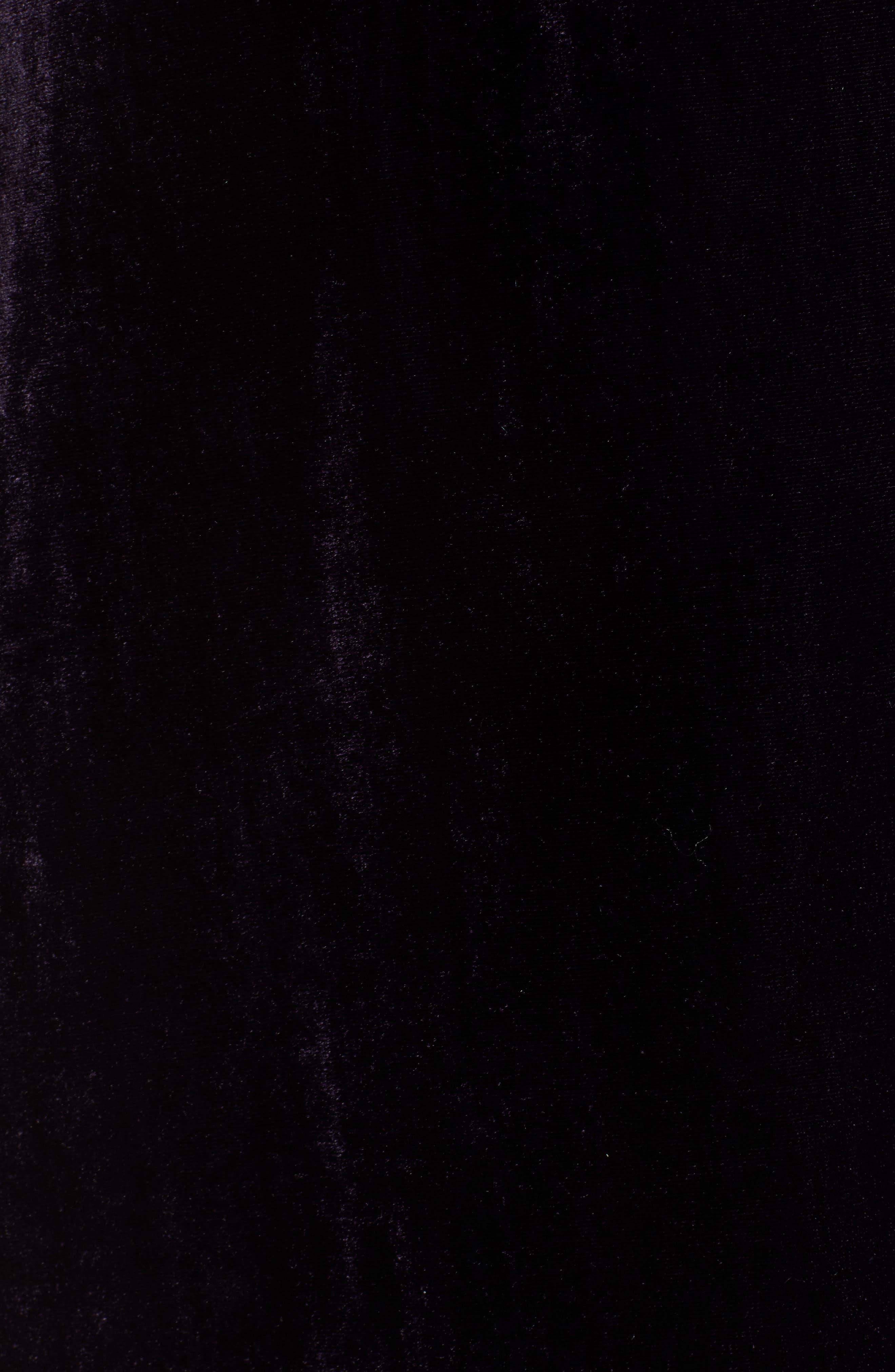 Velvet Slipdress,                             Alternate thumbnail 6, color,                             DARK ORCHID