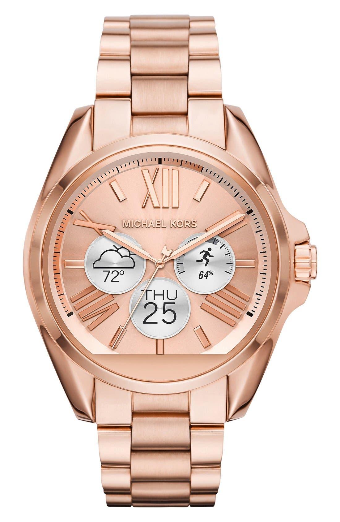 MICHAEL Michael Kors Bradshaw Access Bracelet Smart Watch, 45mm,                             Alternate thumbnail 53, color,