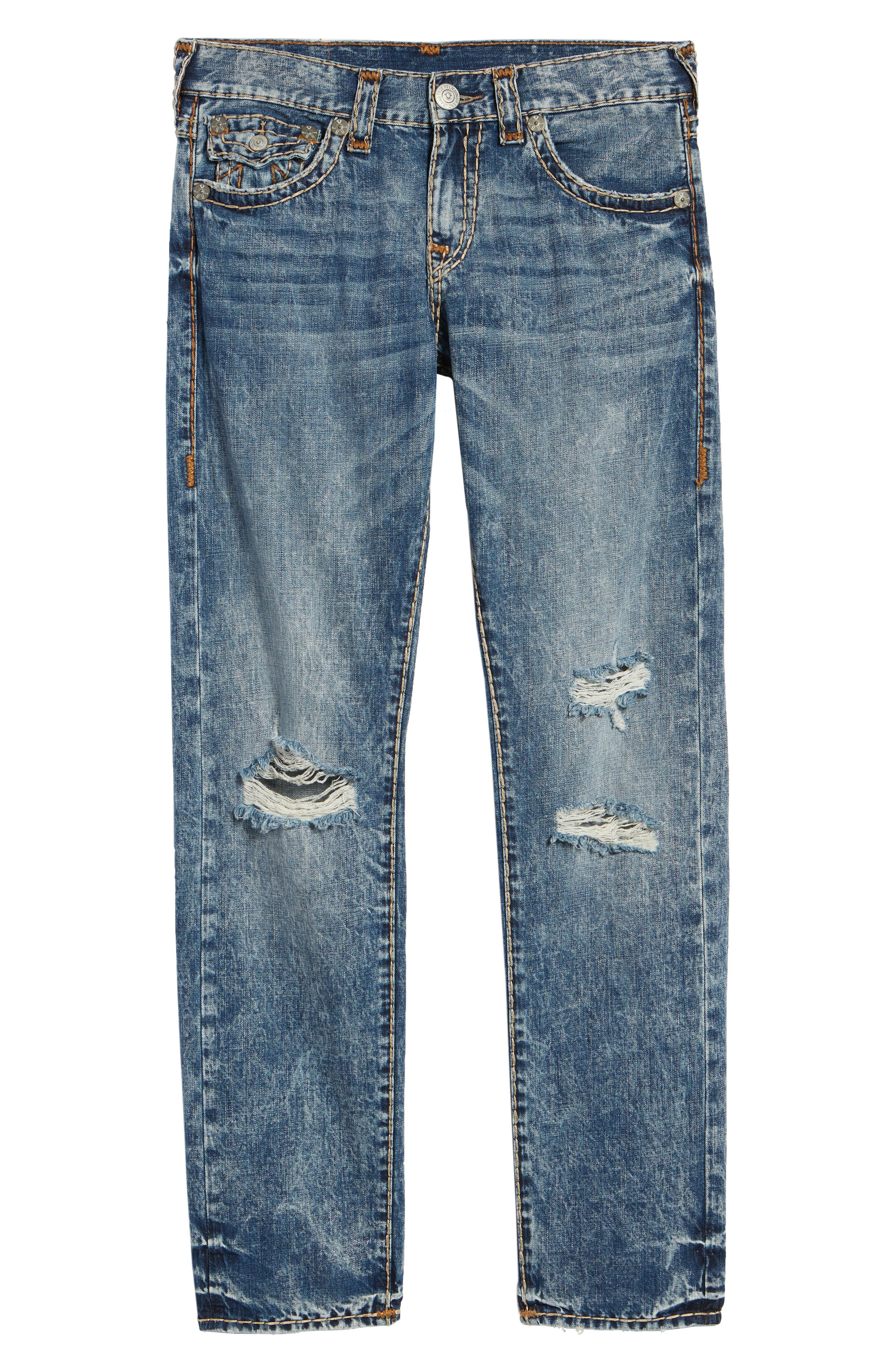 Geno Straight Leg Jeans,                             Alternate thumbnail 6, color,                             WORN BLUE BLUFF