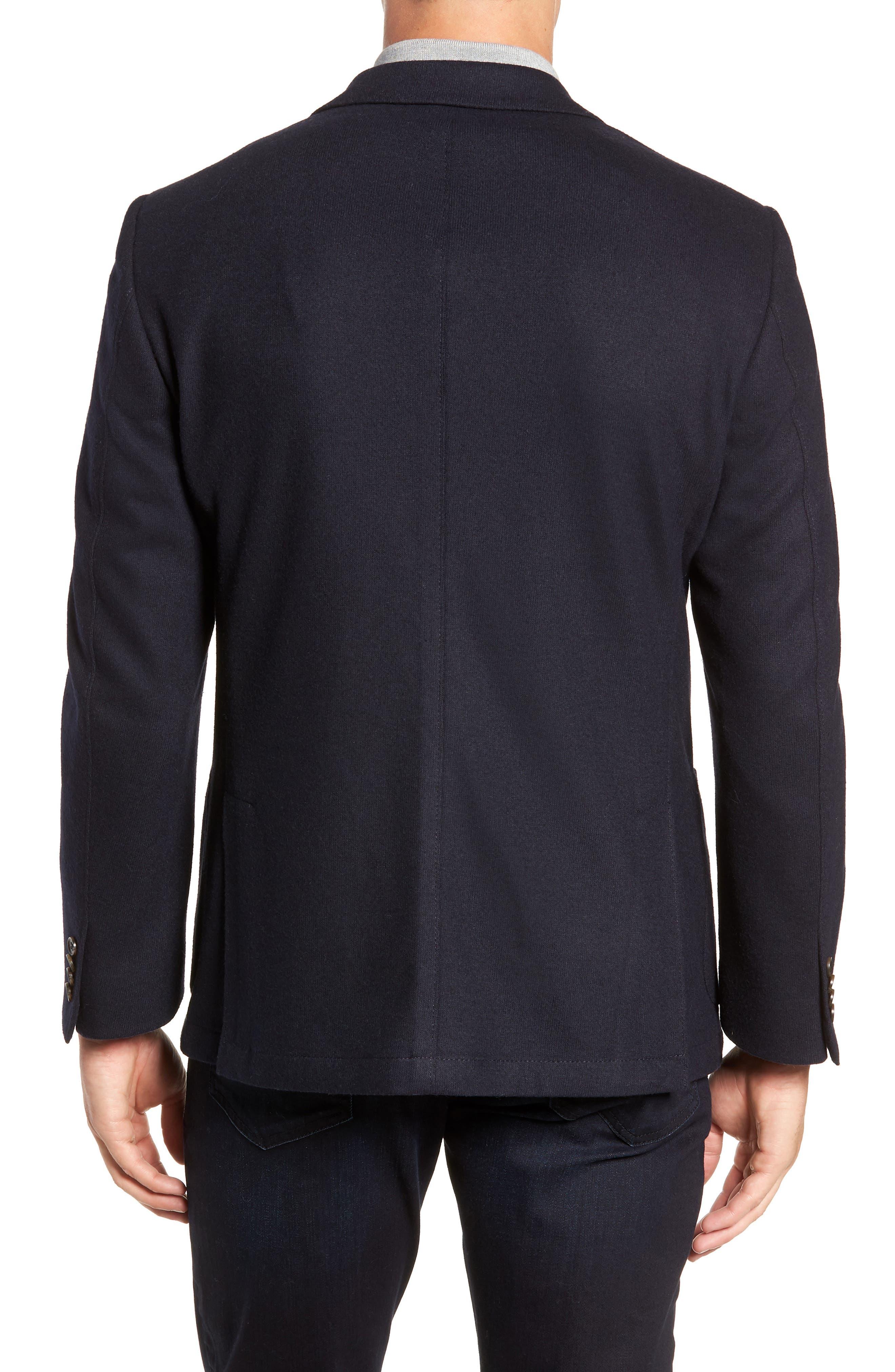 Regular Fit Wool Blend Sport Coat,                             Alternate thumbnail 2, color,                             NAVY