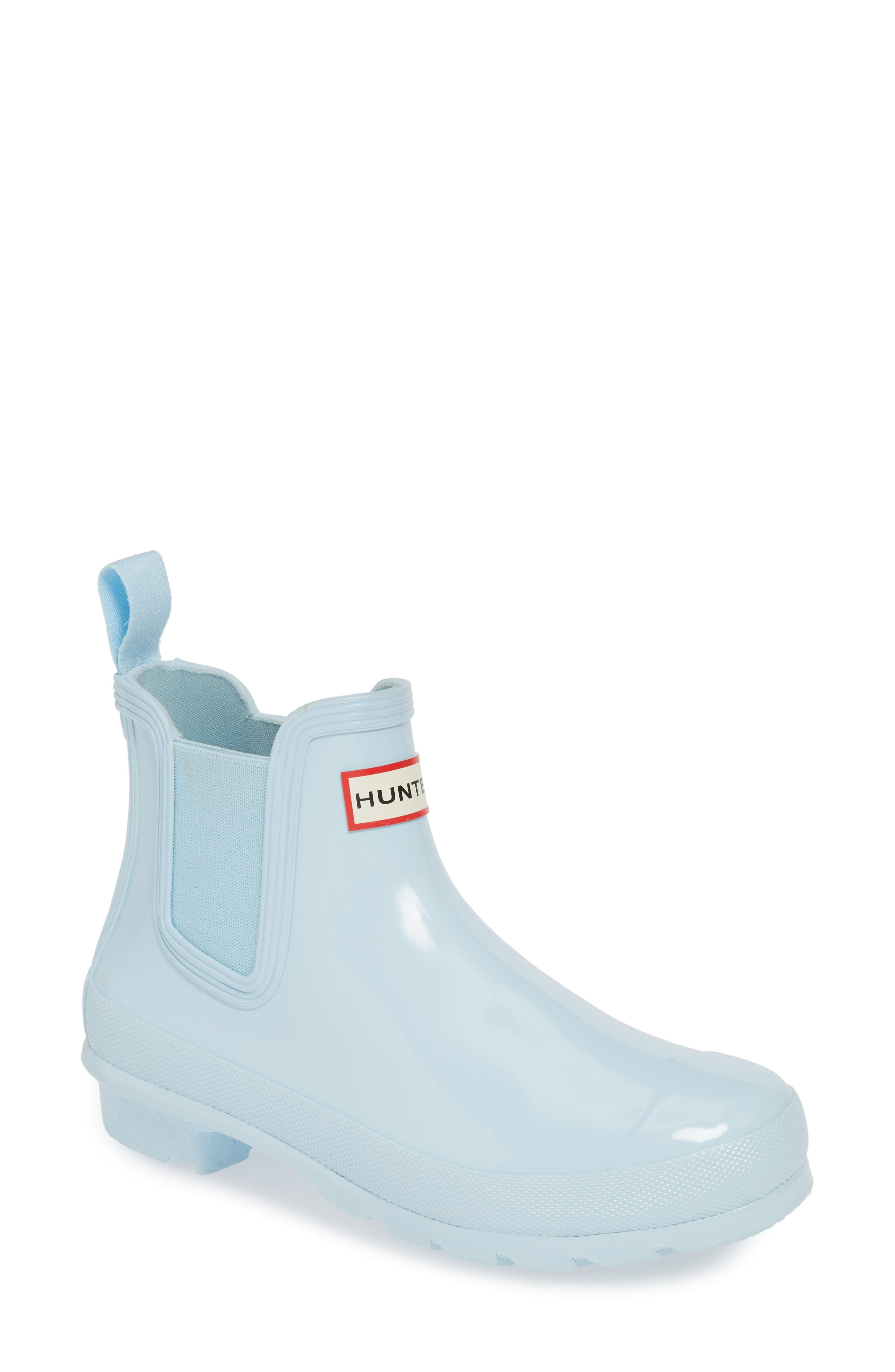 Hunter Original Gloss Waterproof Chelsea Boot, Blue